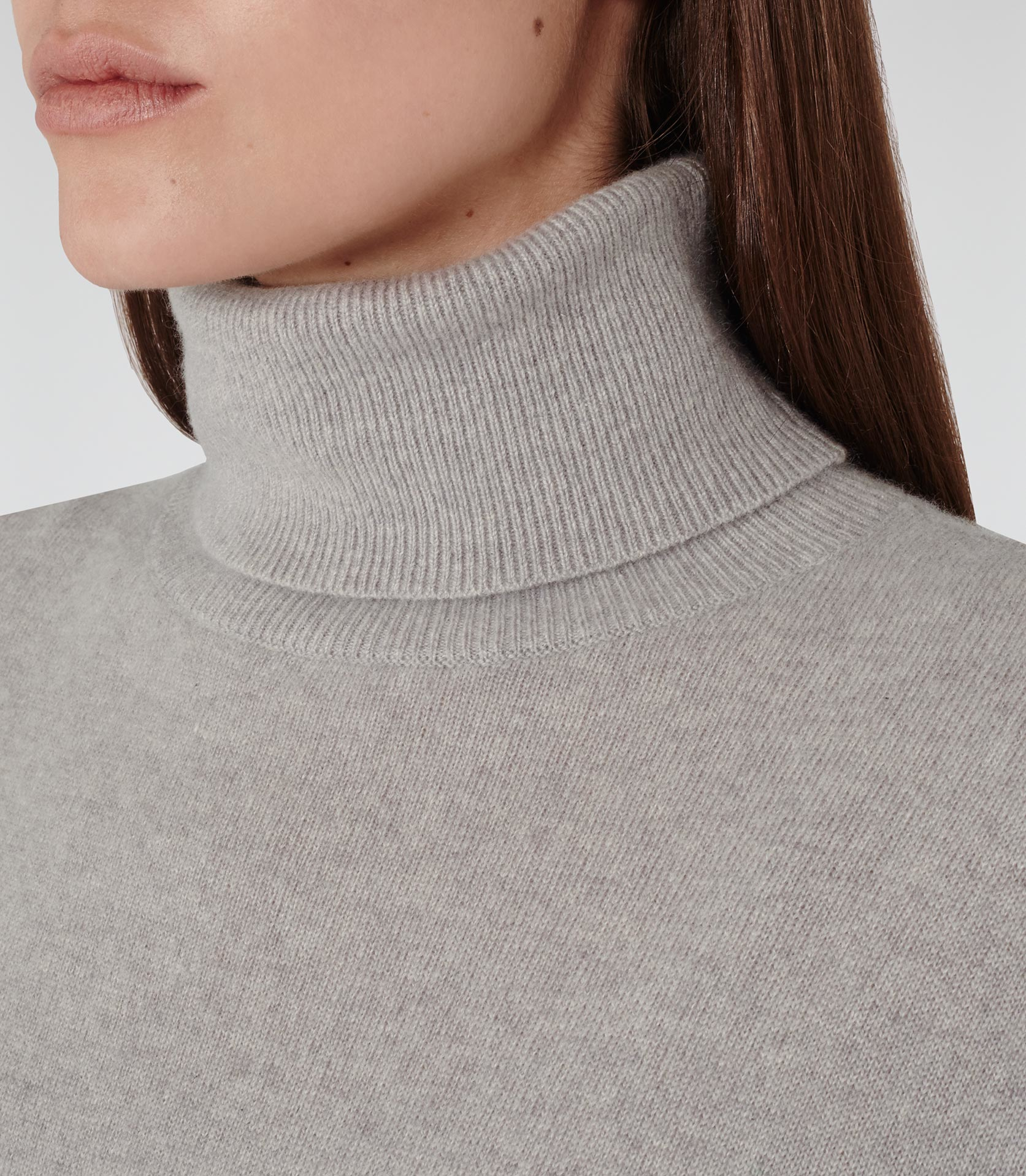 2b3cc42286f Reiss Gray Zoya Cashmere Roll-neck Jumper