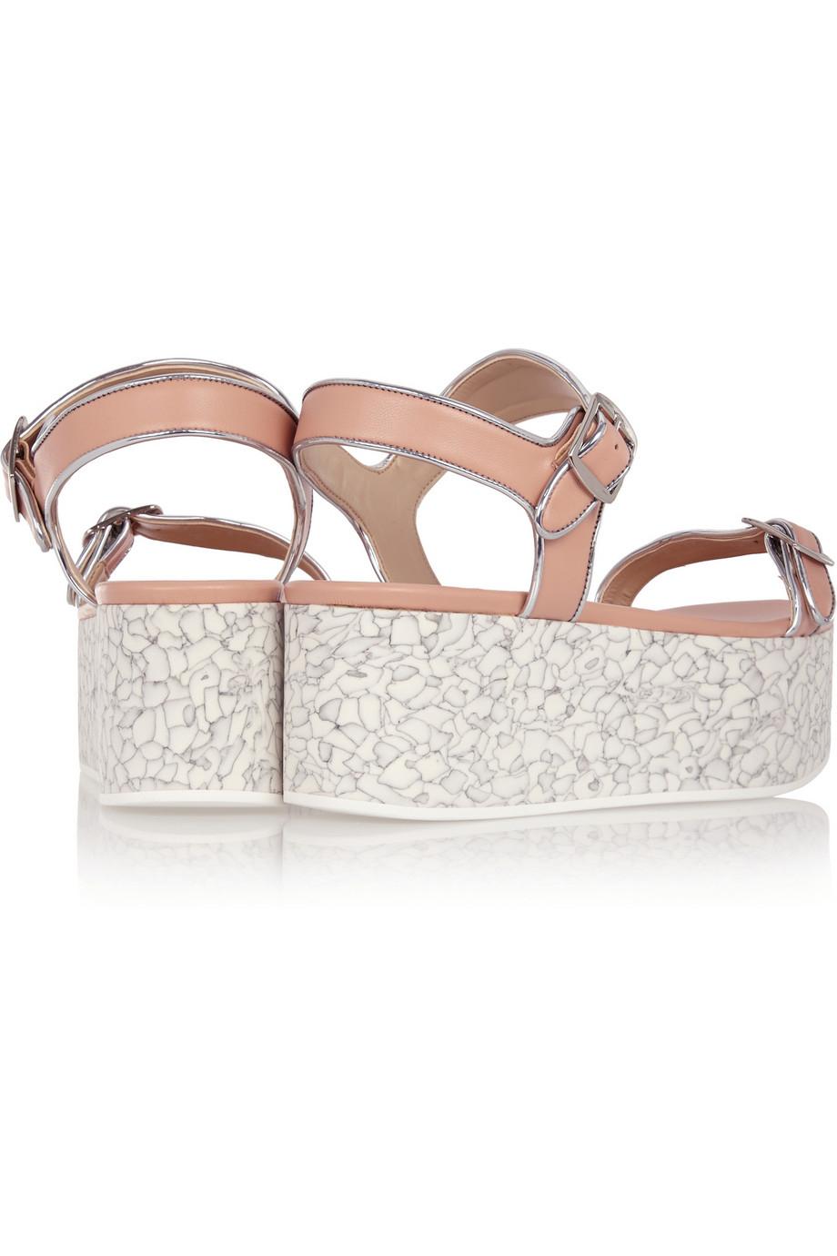 c8a27b49062cc Stella Mccartney Faux Leather Platform Sandals