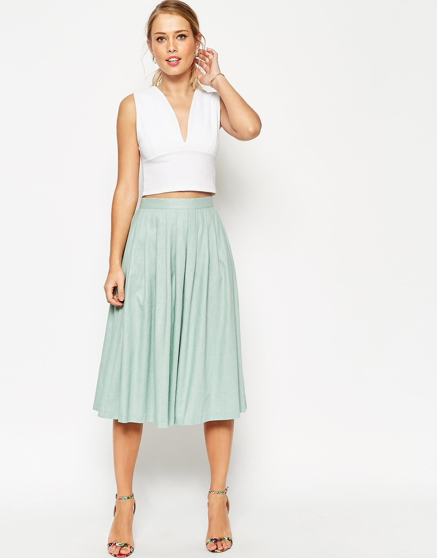 Midi skirt green / Mint green skirt / Green check skirt / Midi skirt with elastic waistband / Vintage midi skirt / Mid-length skirt green MillyandMaple. 5 out of 5 stars There are midi mint skirt for sale on Etsy, and they cost $ on average. The most popular color?
