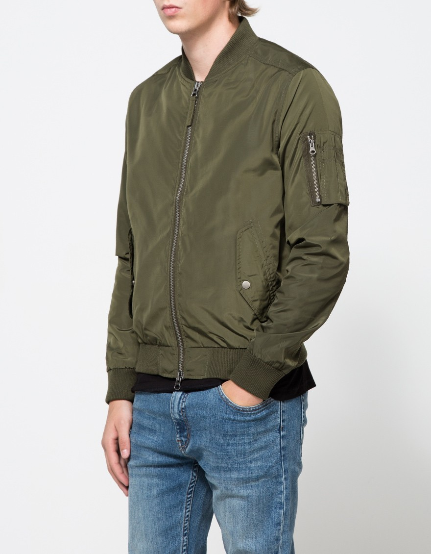 Topman mens leather jacket