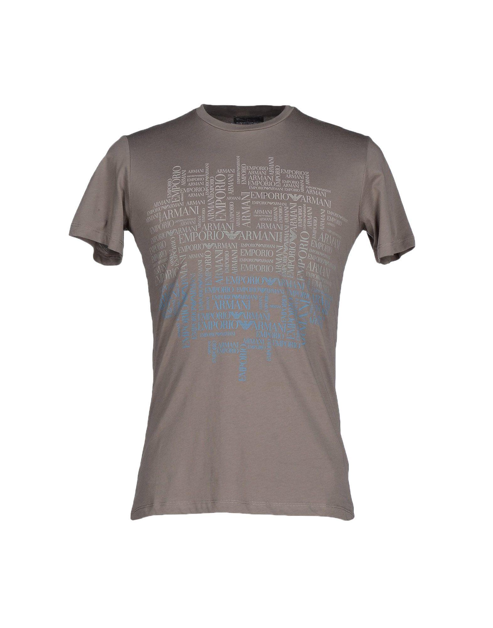 emporio armani t shirt in gray for men lyst. Black Bedroom Furniture Sets. Home Design Ideas