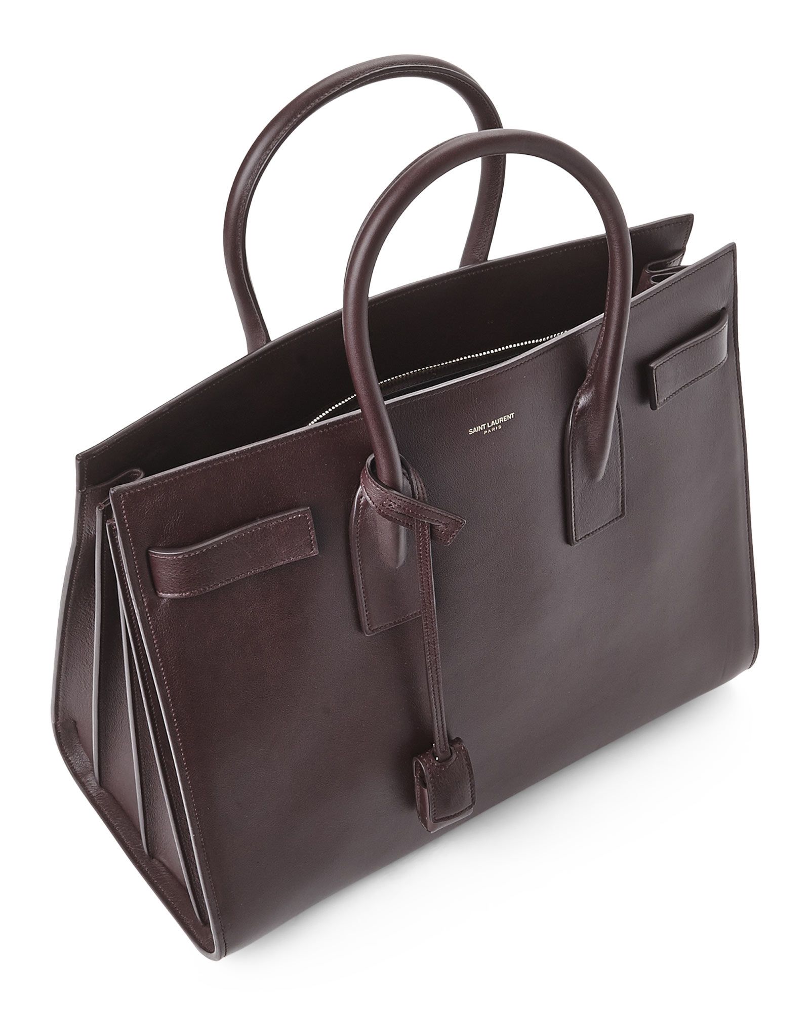 29302631c8 Saint Laurent Purple Bordeaux Large Sac De Jour Bag