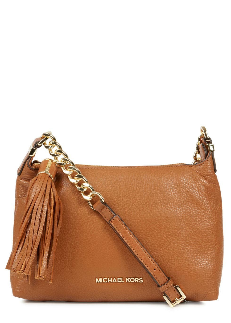 c0c824026050 Michael Kors Weston Tan Grained Leather Crossbody Bag in Brown - Lyst