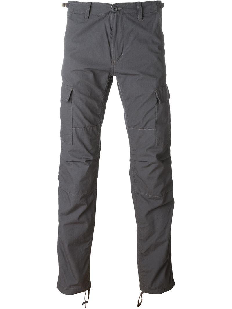 Carhartt Cargo Slim Trousers in Black for Men | Lyst