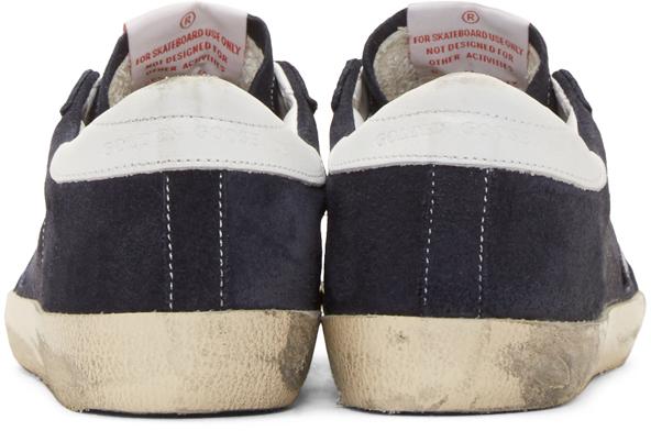 Golden Goose Deluxe Brand Superstar Suede Low-Top Sneakers in Navy (Blue)