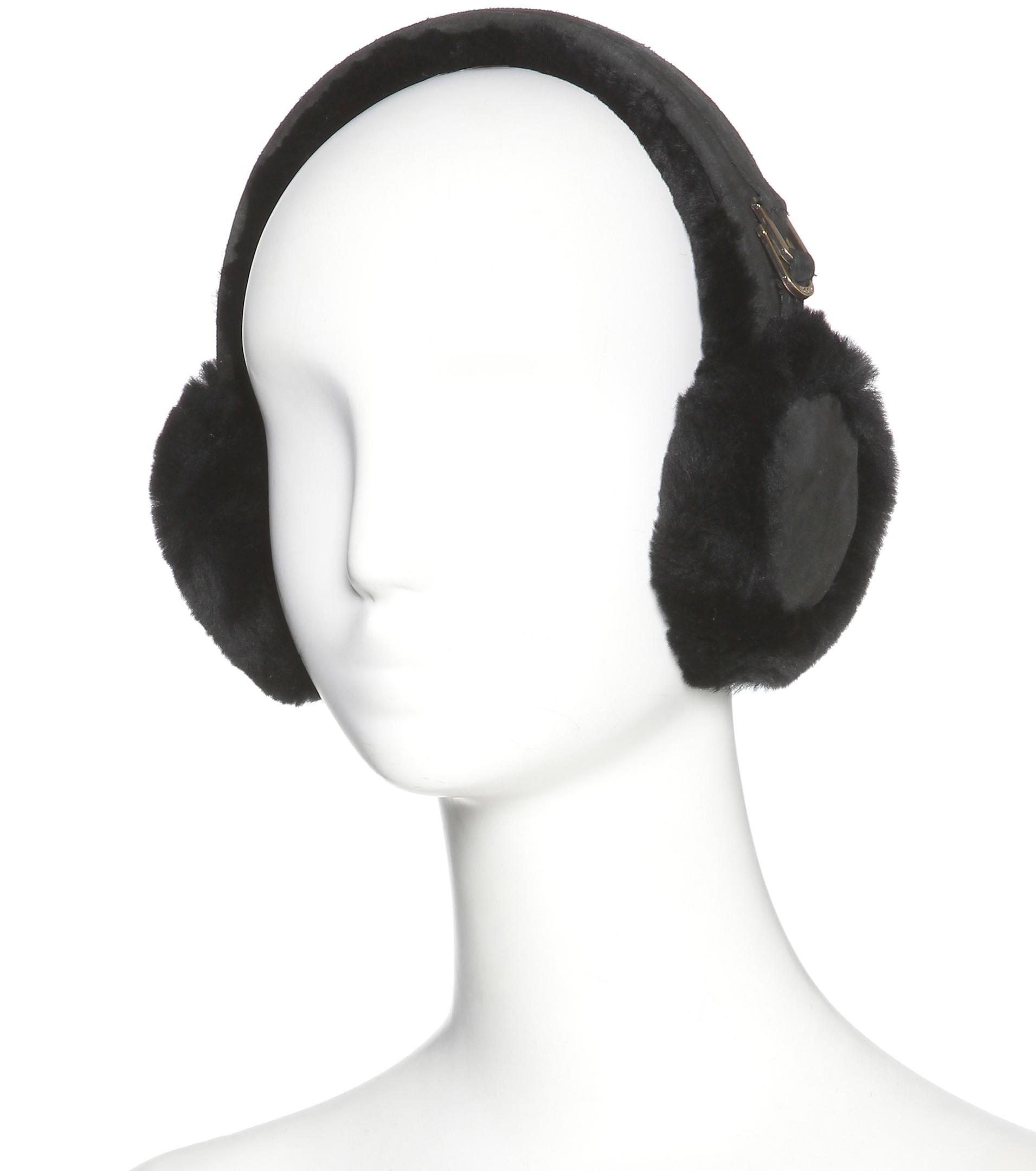 814daad7985 UGG Black Double U Shearling Earmuffs
