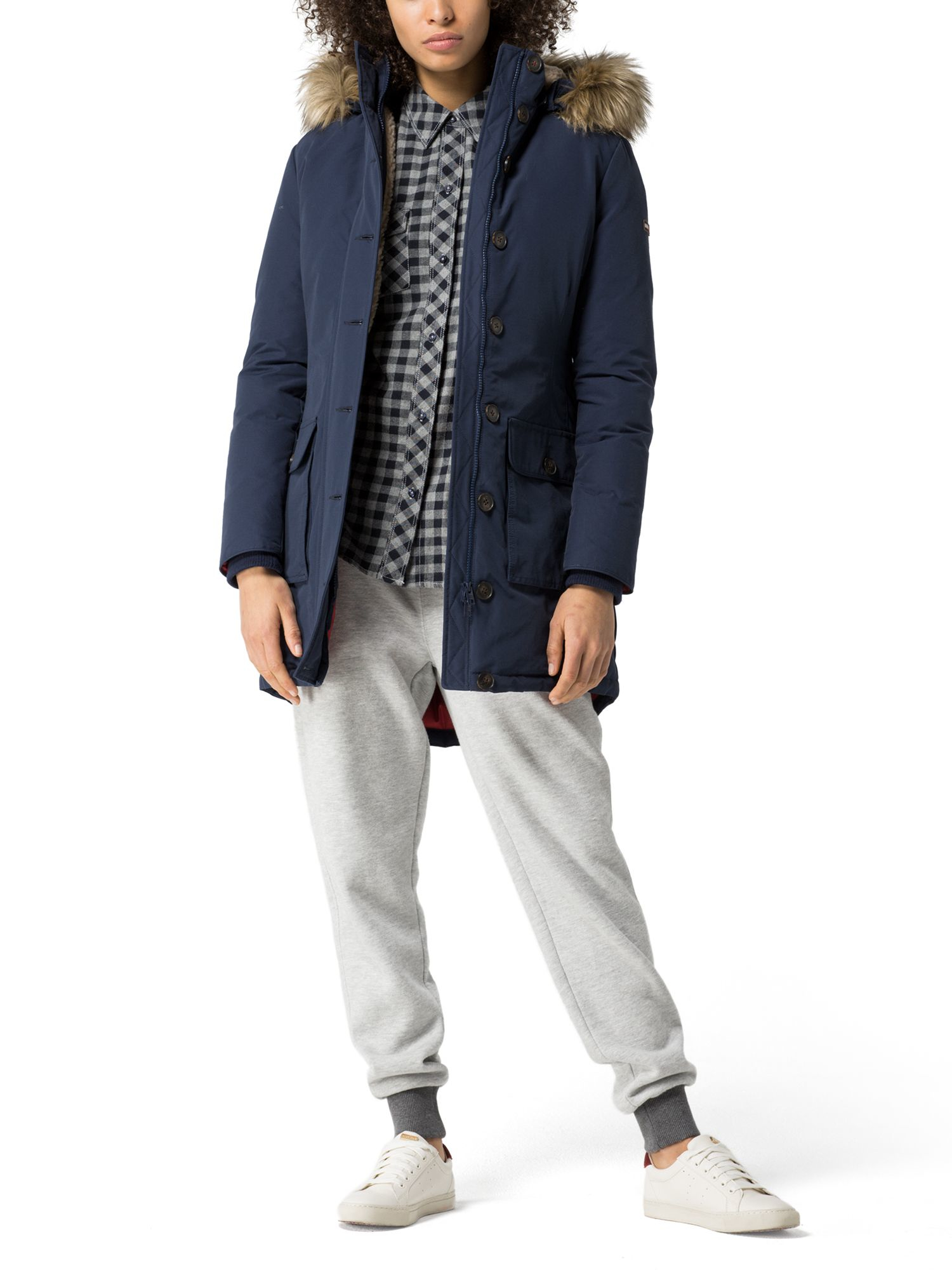 Tommy Hilfiger Gilmore Down Parka In Blue Lyst