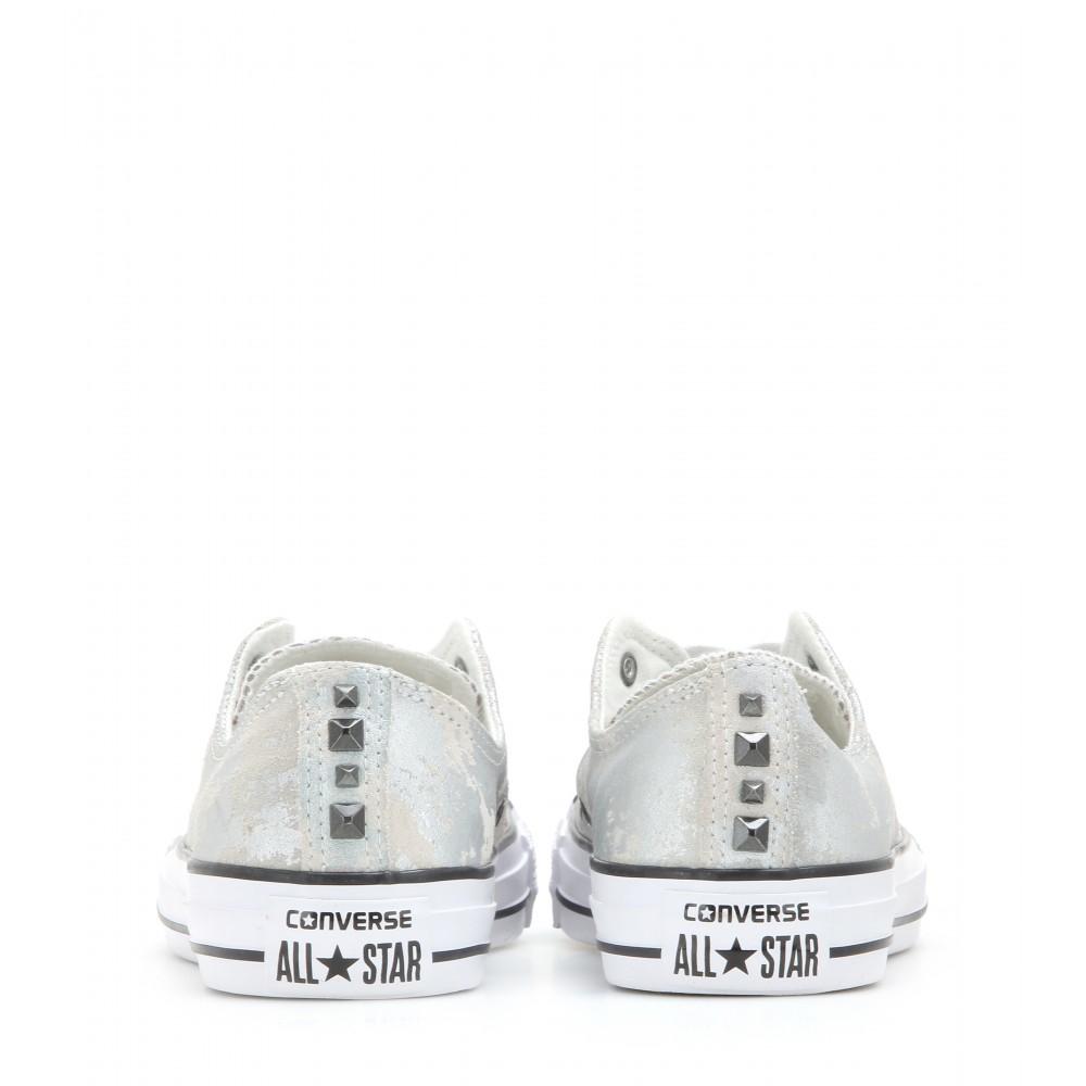 Lyst - Converse Chuck Taylor All Star Metallic Suede Sneakers in Metallic 9de978dd1