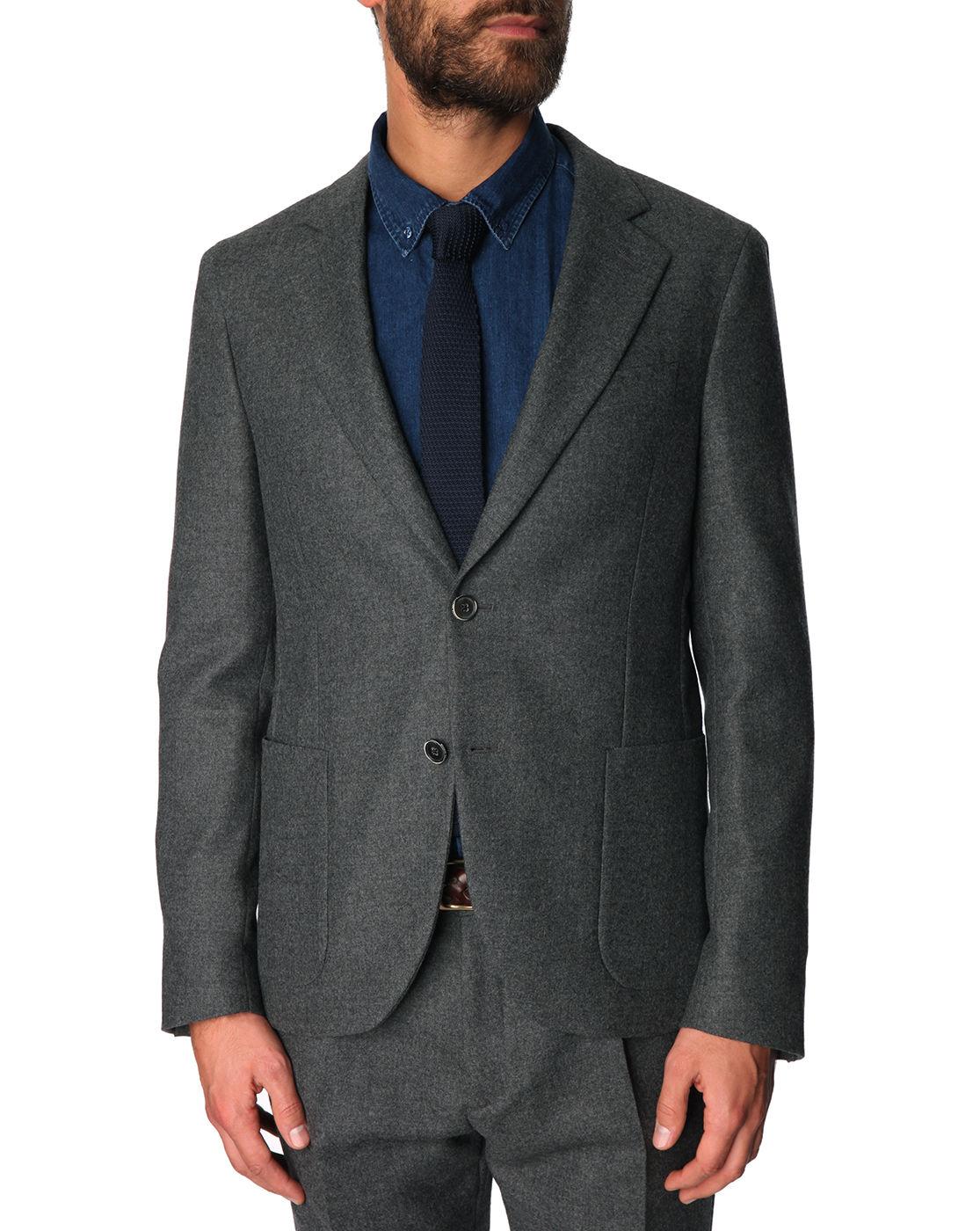 Atelier scotch slim fit grey wool suit integrated pouch for Atelier maison scotch