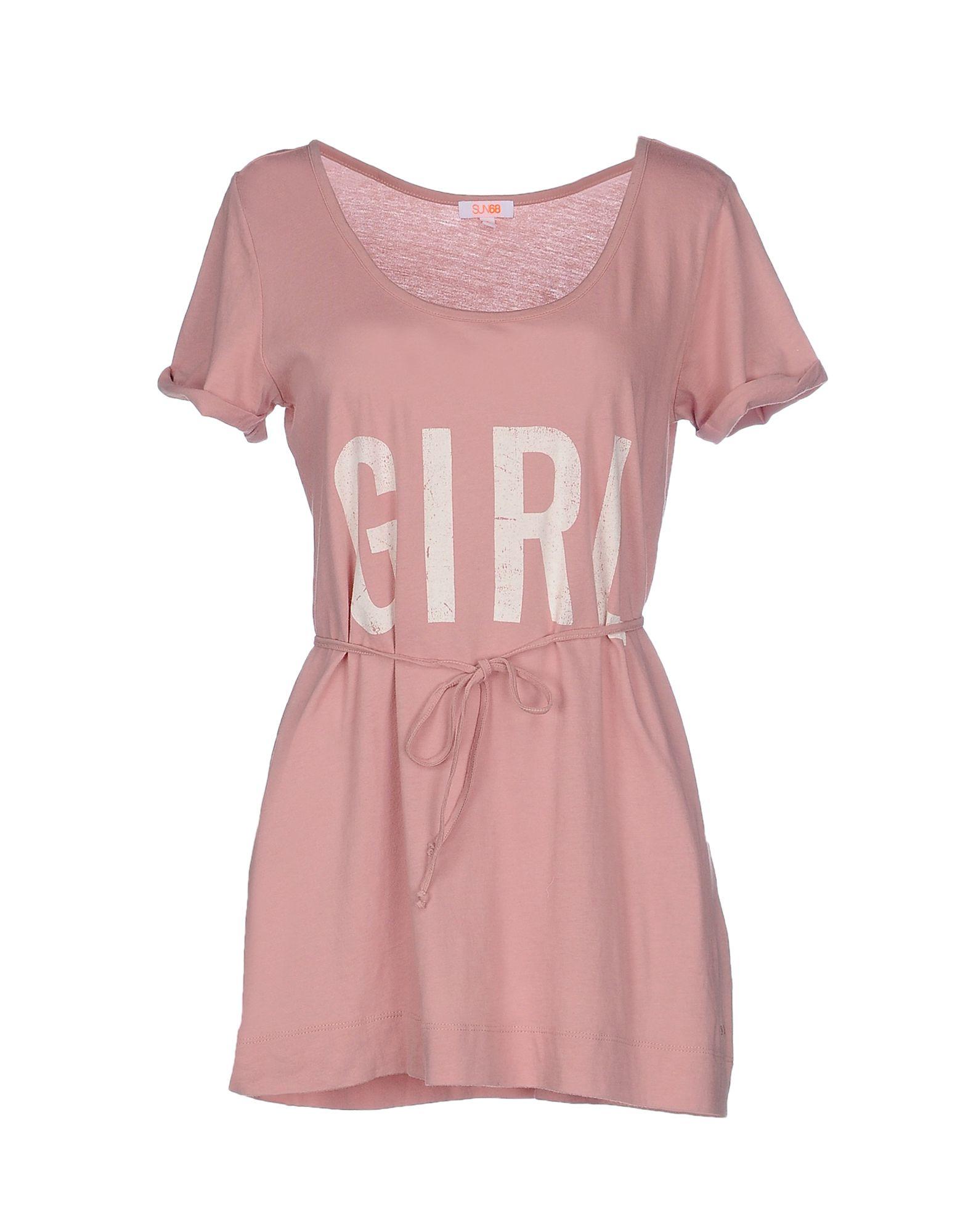 Sun 68 t shirt in pink pastel pink lyst for Pastel pink dress shirt