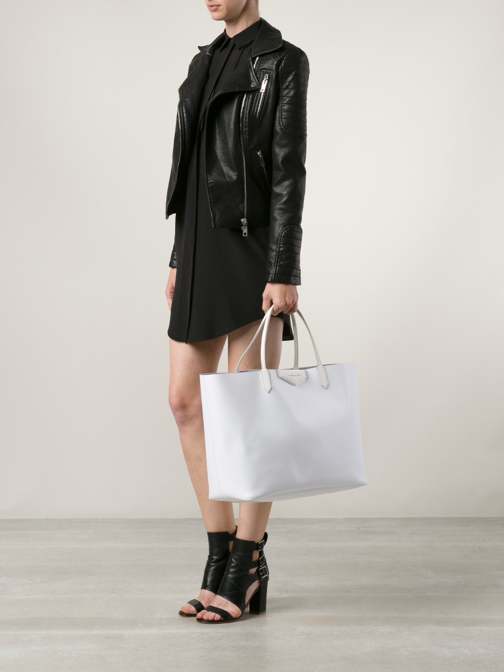 Lyst - Givenchy Large  Antigona  Shopping Tote in White 68c48be243