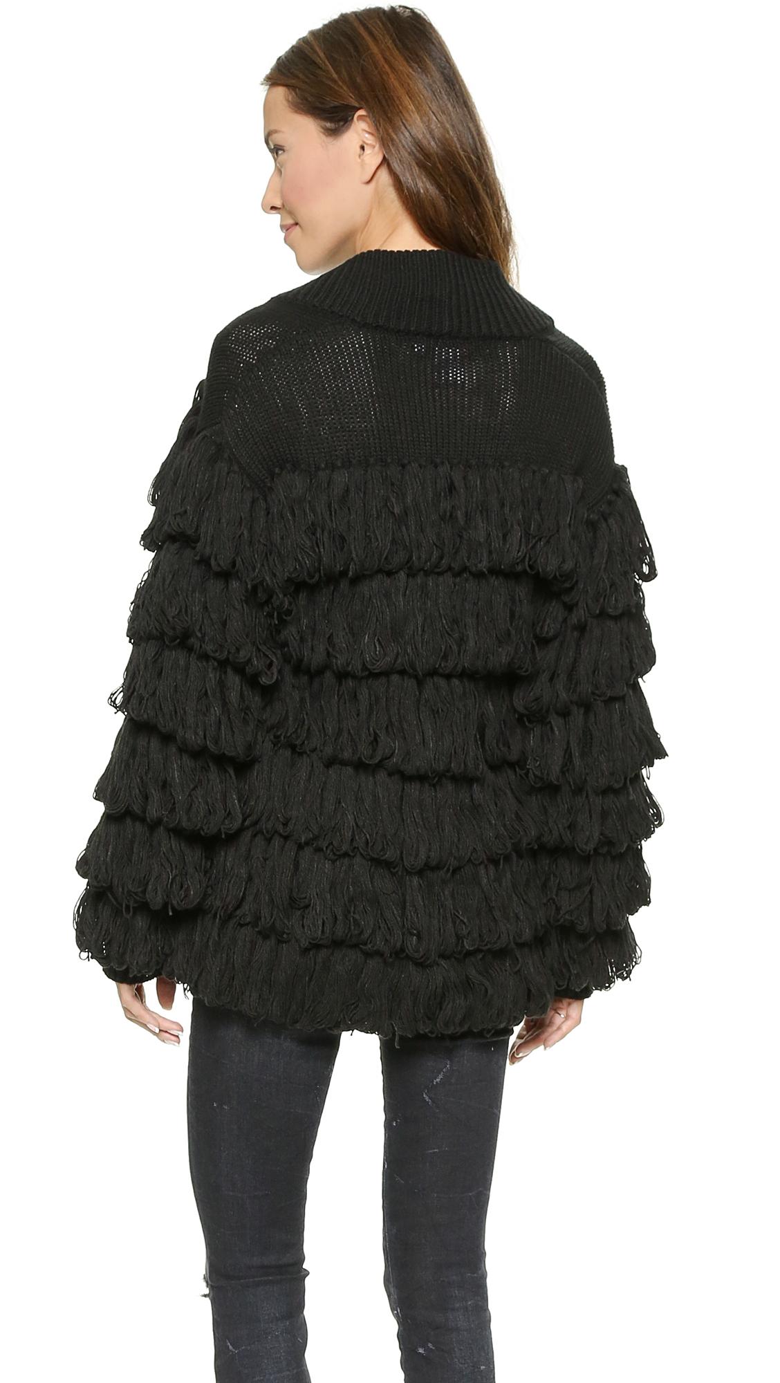 Images of Black Sweater Coat - Reikian