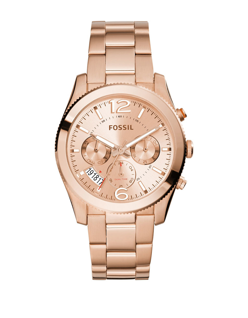 fossil ladies perfect boyfriend watch rosegold in metallic lyst. Black Bedroom Furniture Sets. Home Design Ideas