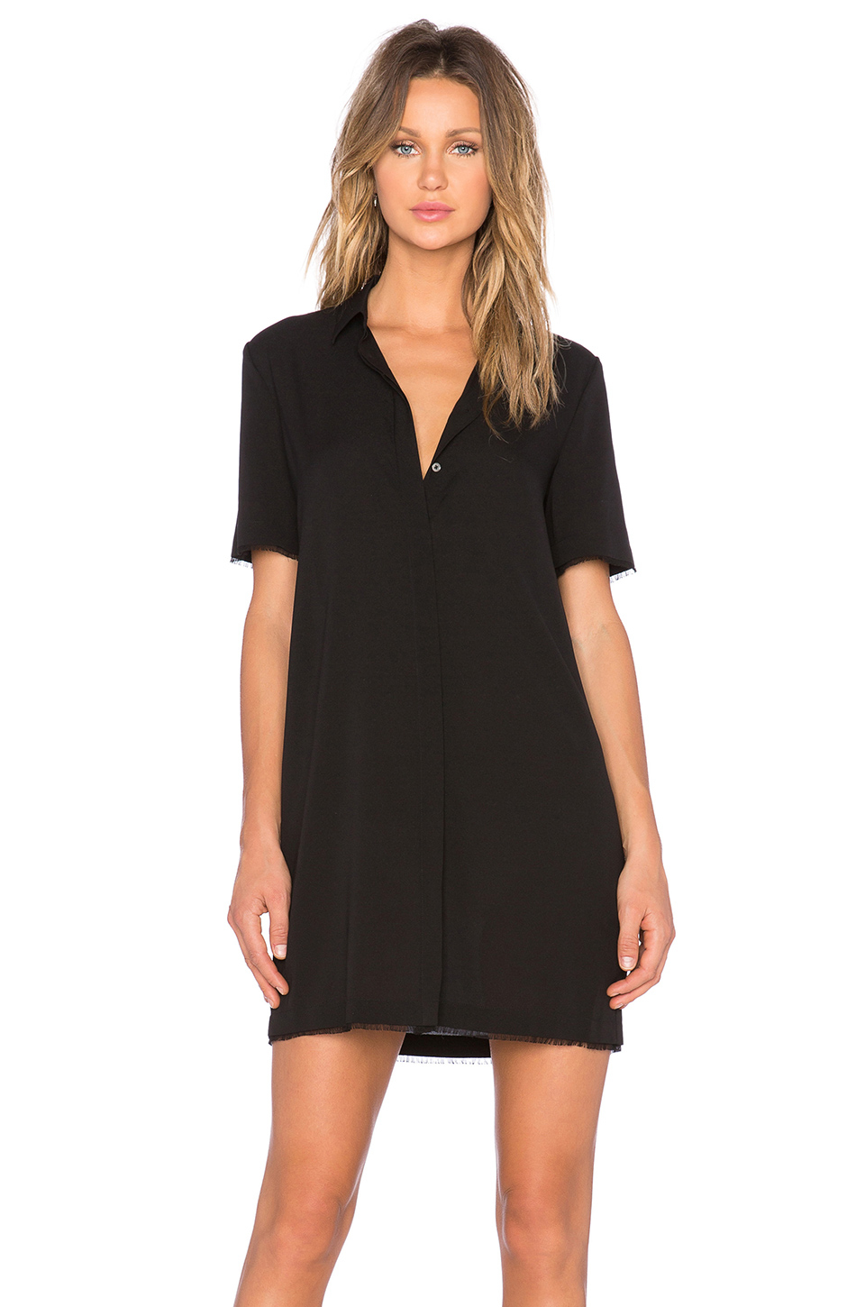 t by alexander wang shirt dress in black lyst