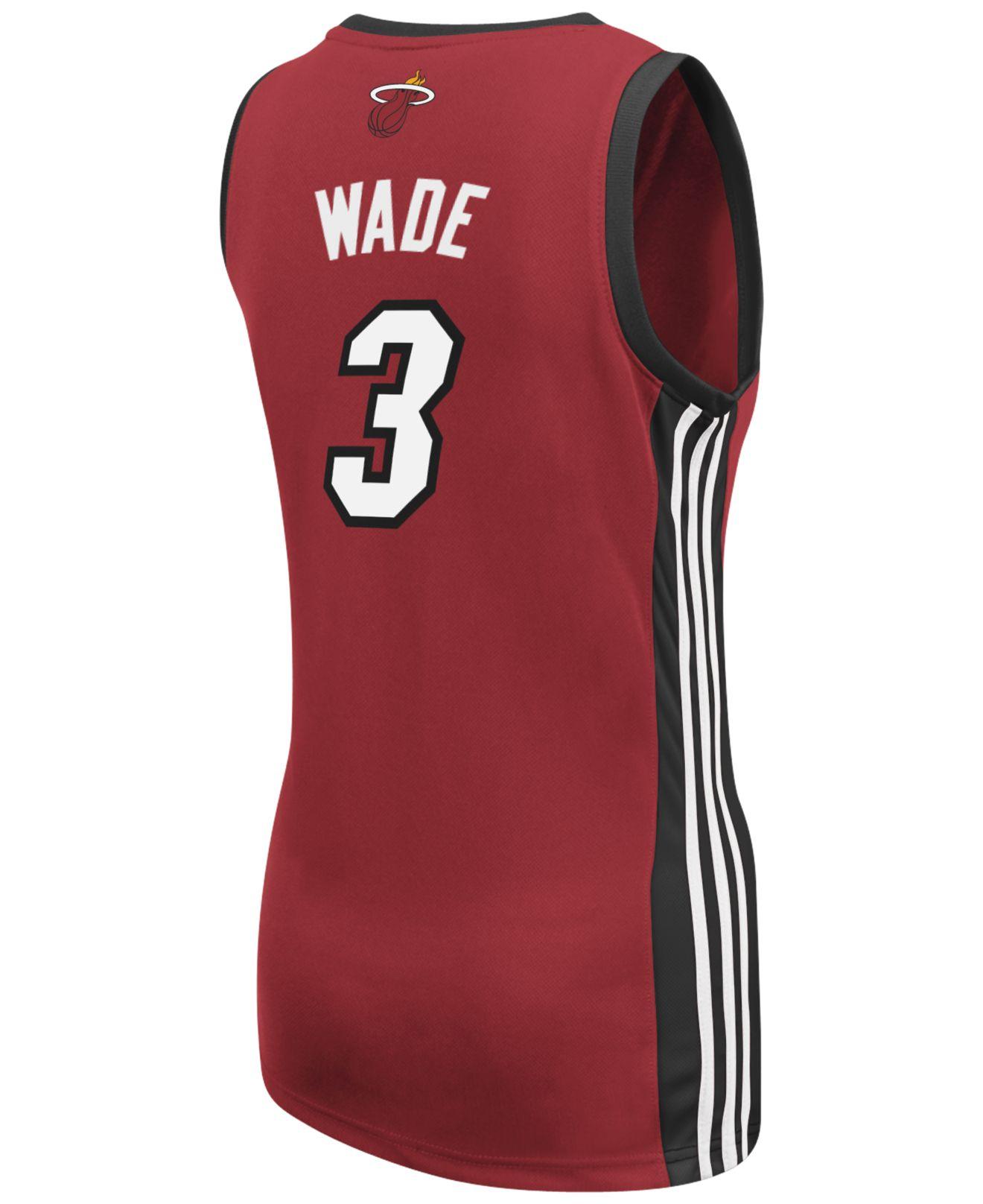 Lyst - adidas Originals Women s Dwyane Wade Miami Heat Jersey in Red 9d89dd494