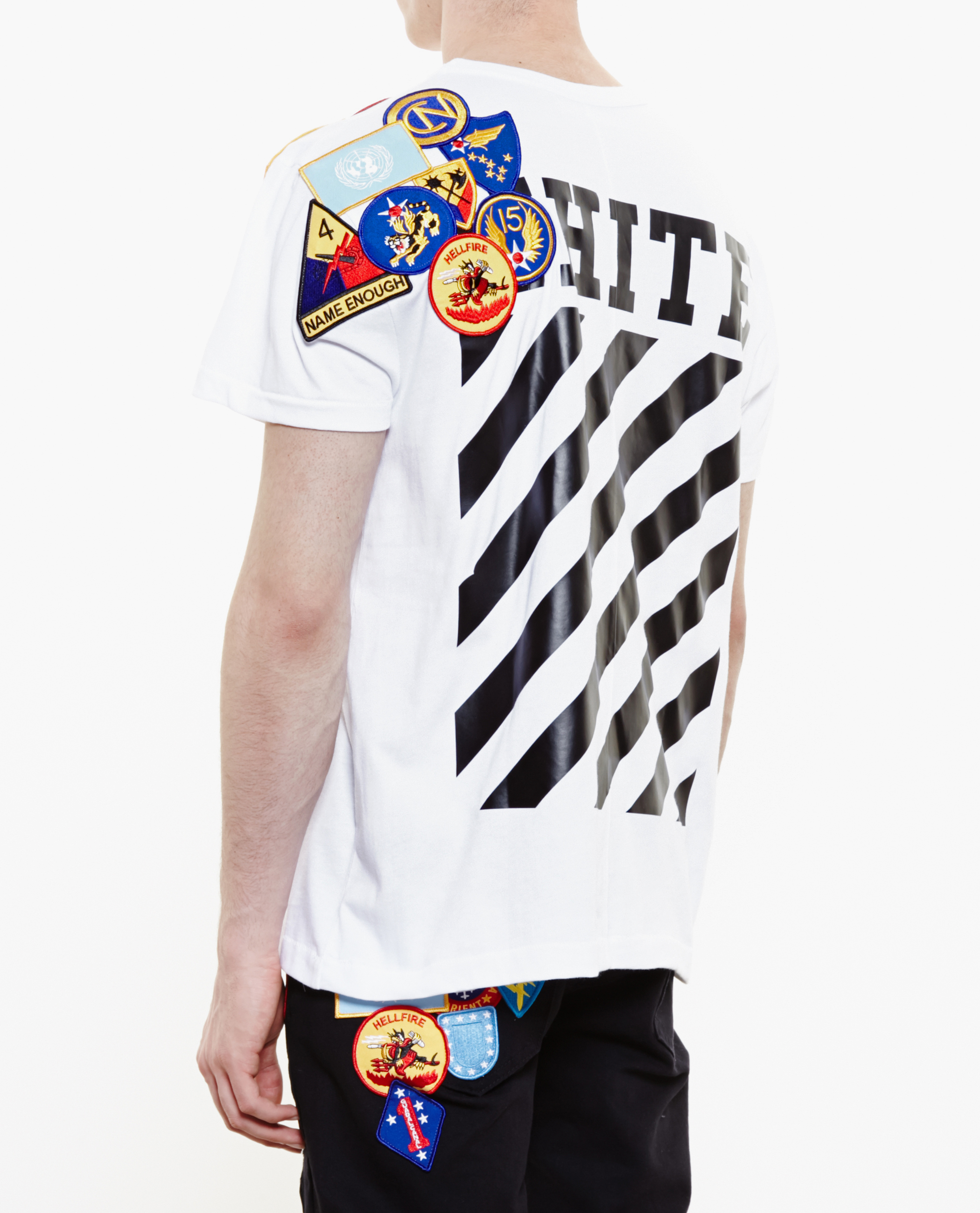 5303d2841816 Lyst - Off-White c o Virgil Abloh Badge Embroidered T-Shirt in White ...