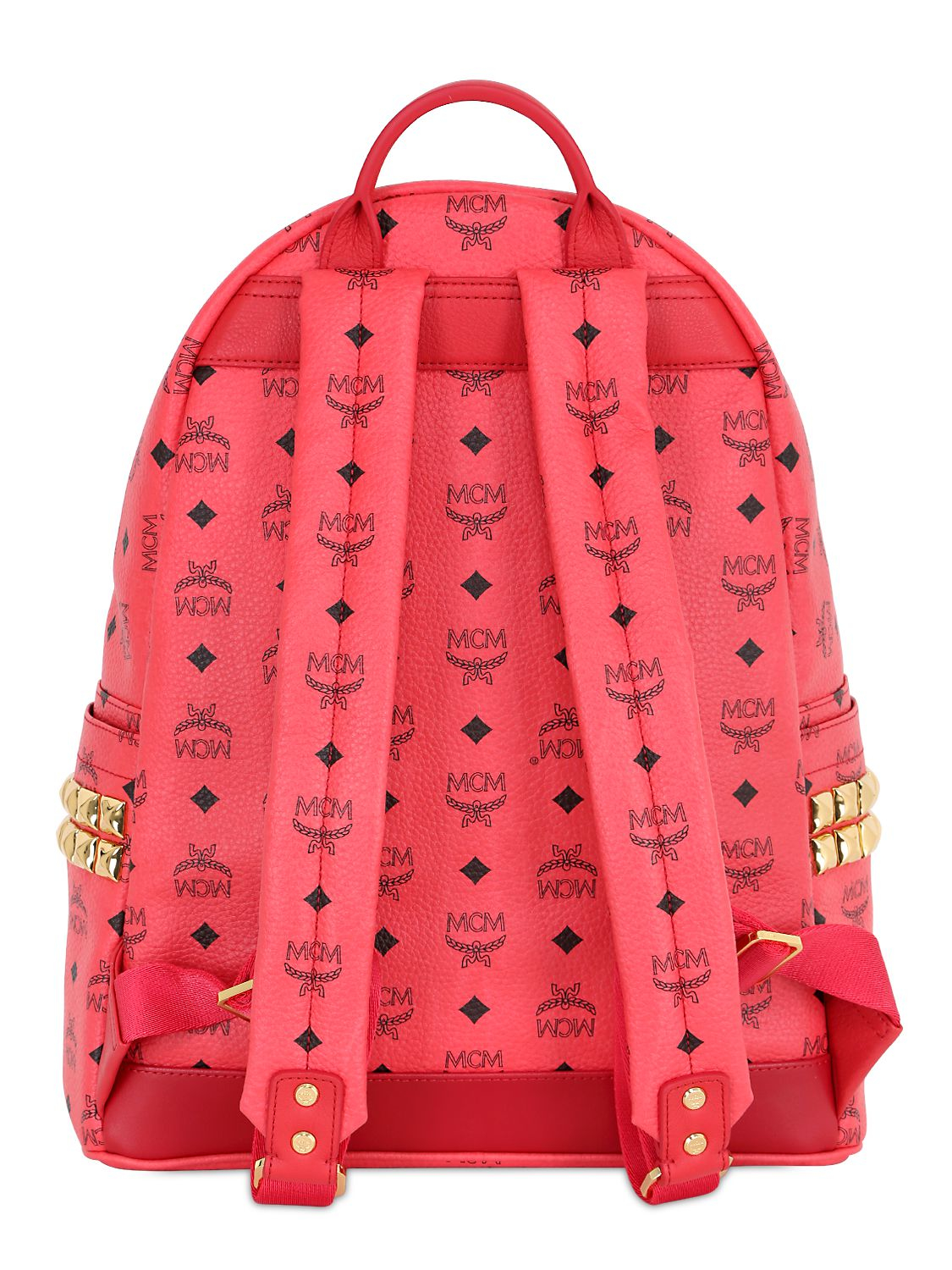 Mcm Stark Backpack In Red Lyst