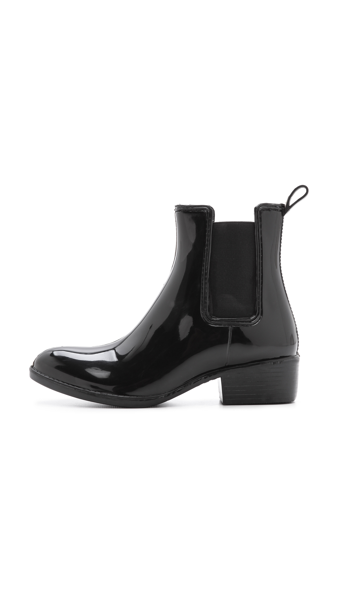 Jeffrey Campbell Rubber Stormy Rain Booties in Black