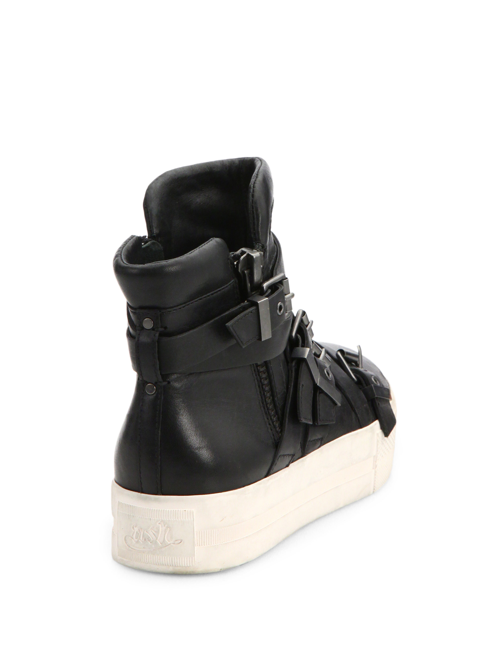 Ash Dae Leather High-top Sneakers in