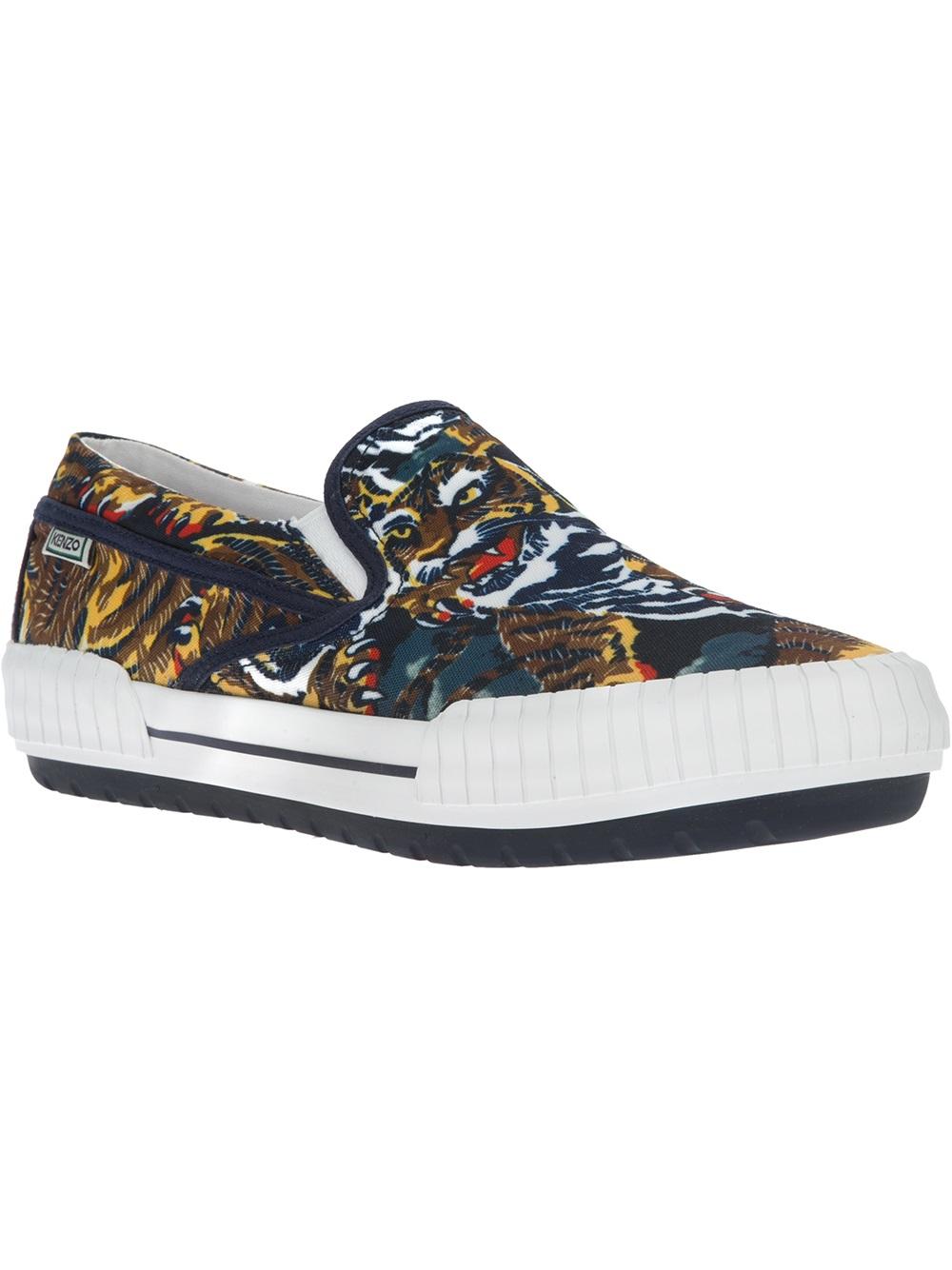 0ed5607f KENZO Blue Flying Tiger Slip On Sneaker for men