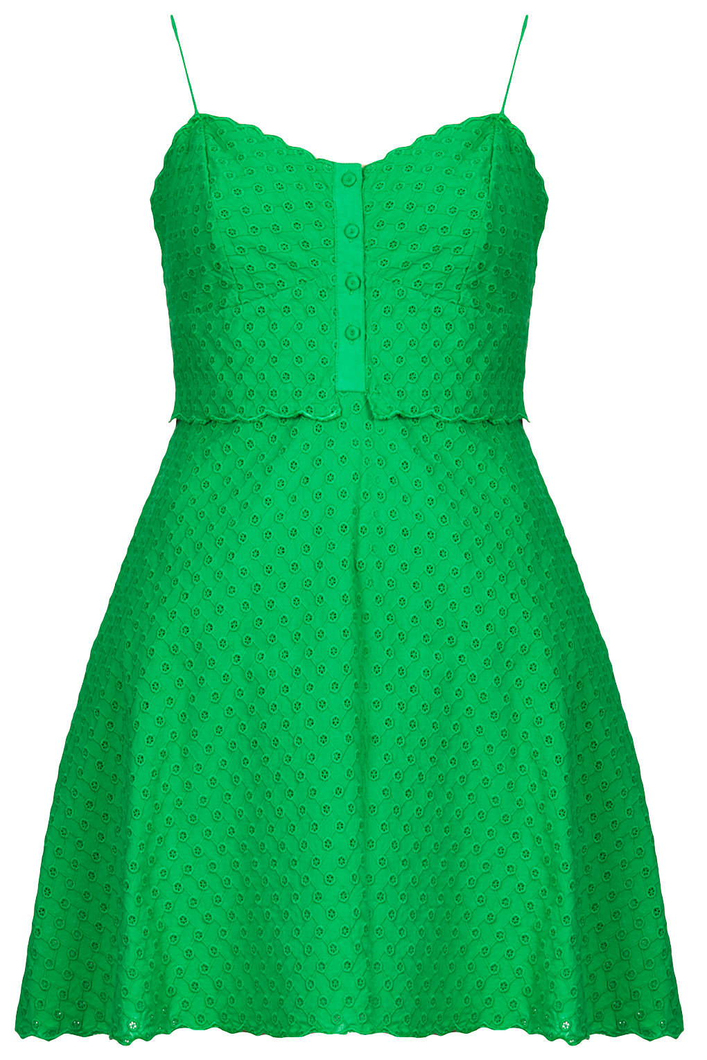 Topshop Pretty Broiderie Sundress In Green Lyst