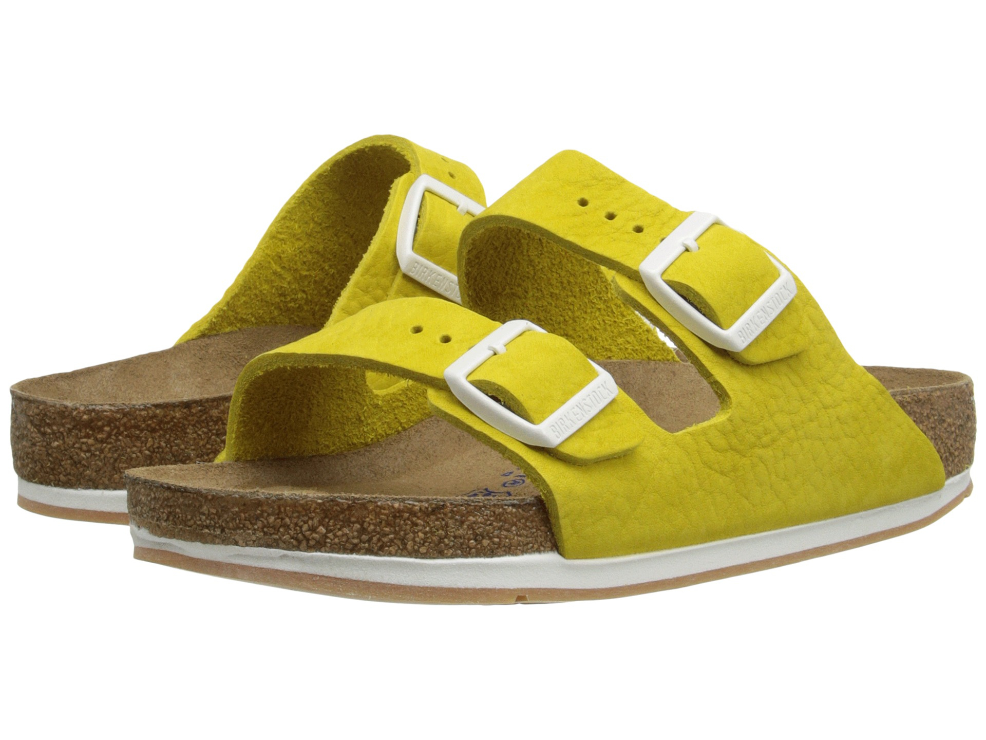 66a58d67d8d3 Lyst - Birkenstock Arizona Soft Footbed - Leather (unisex) in Yellow