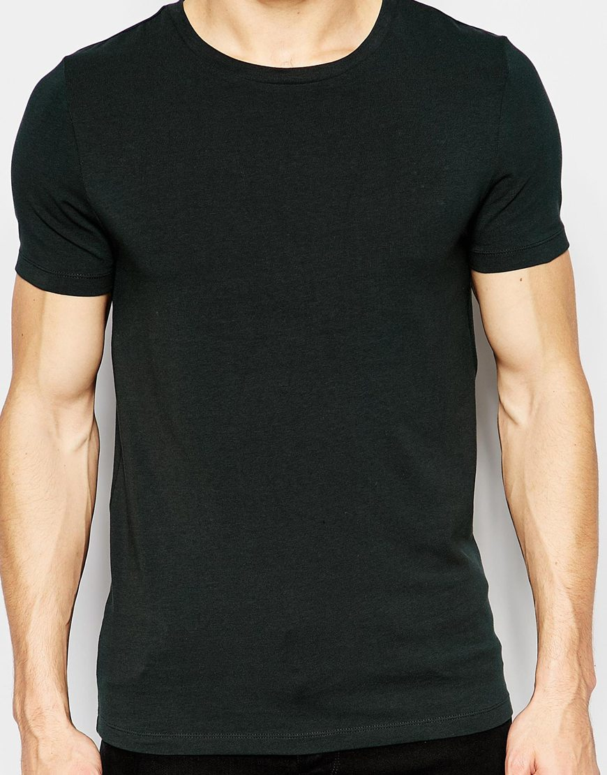 Lyst Asos Fitted Fit T Shirt With Crew Neck 3 Pack Save