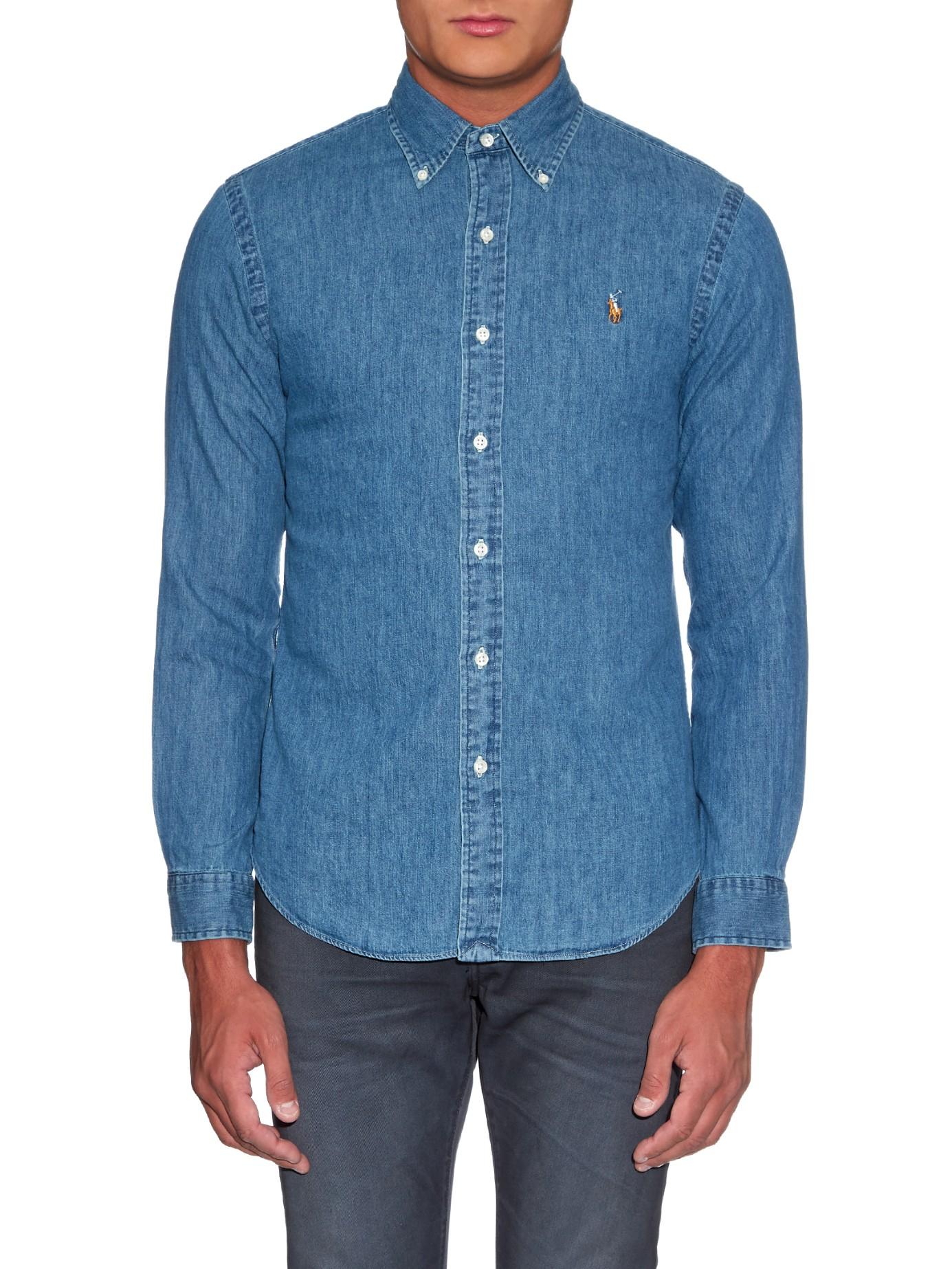 578438e425514 Ralph Lauren Slim Fit Denim Sport Shirt