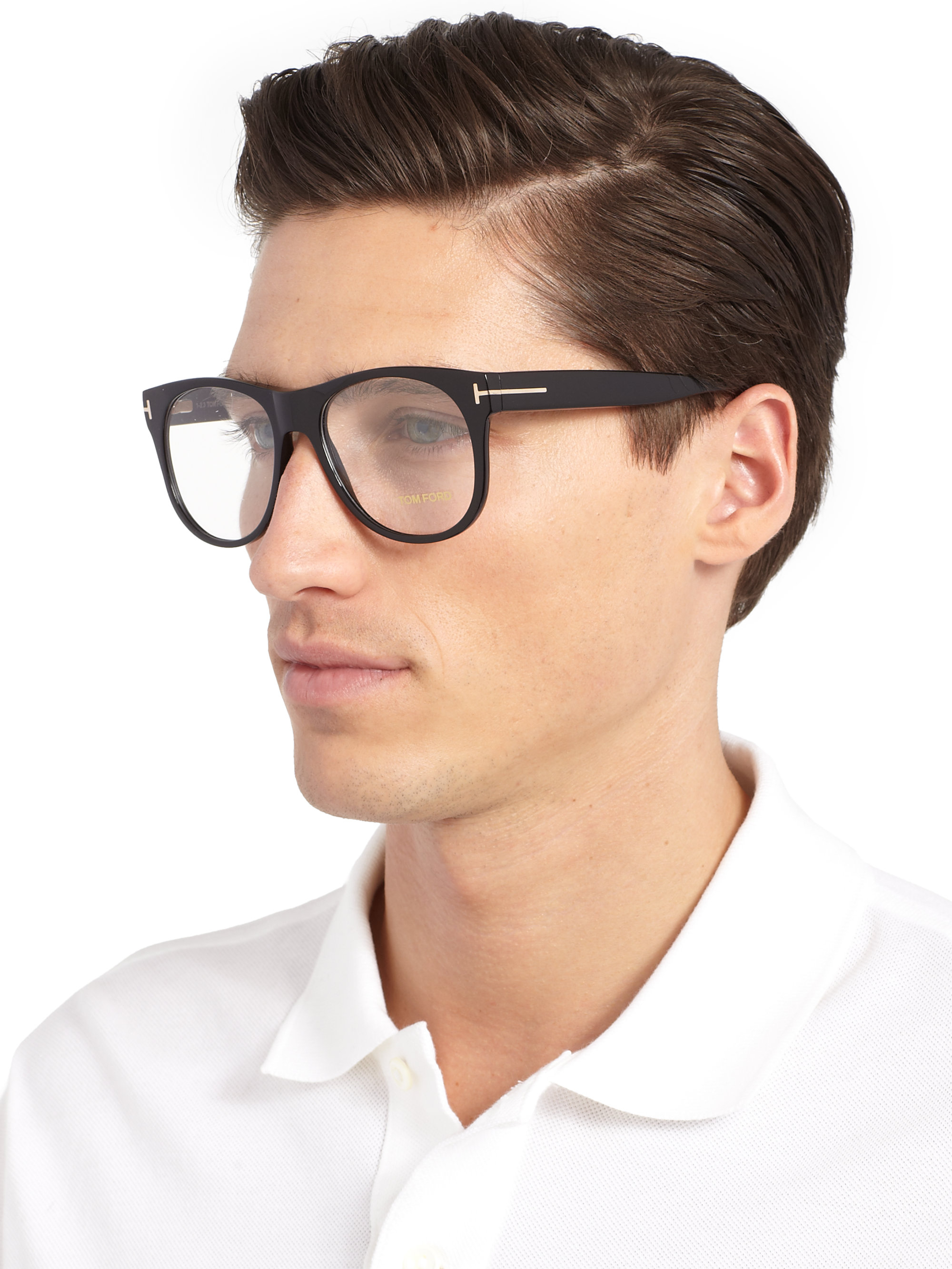 Lyst Tom Ford 5314 Oversized Optical Frames In Black For Men