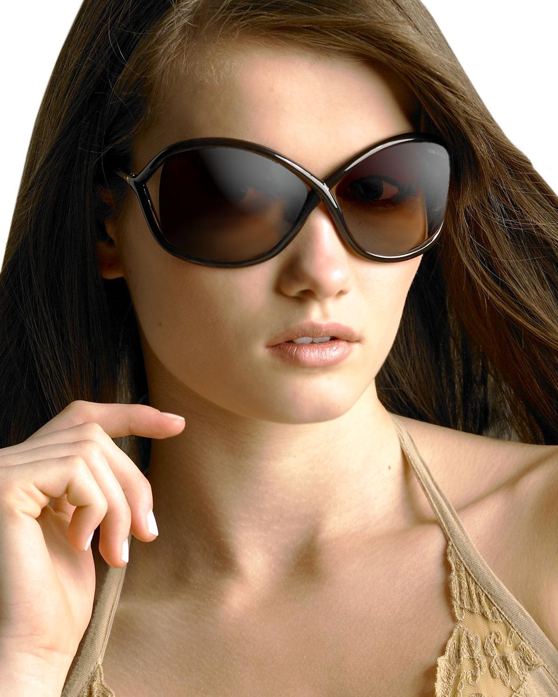 Lyst Tom Ford Whitney 64mm Open Side Sunglasses Dark