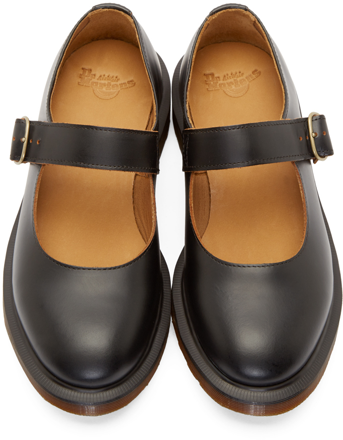 Black Mary Jane Shoes With Bow