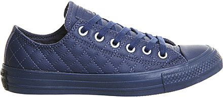 8de1b0350a5e Converse All Star Low-top Quilted Leather Trainers in Blue - Lyst