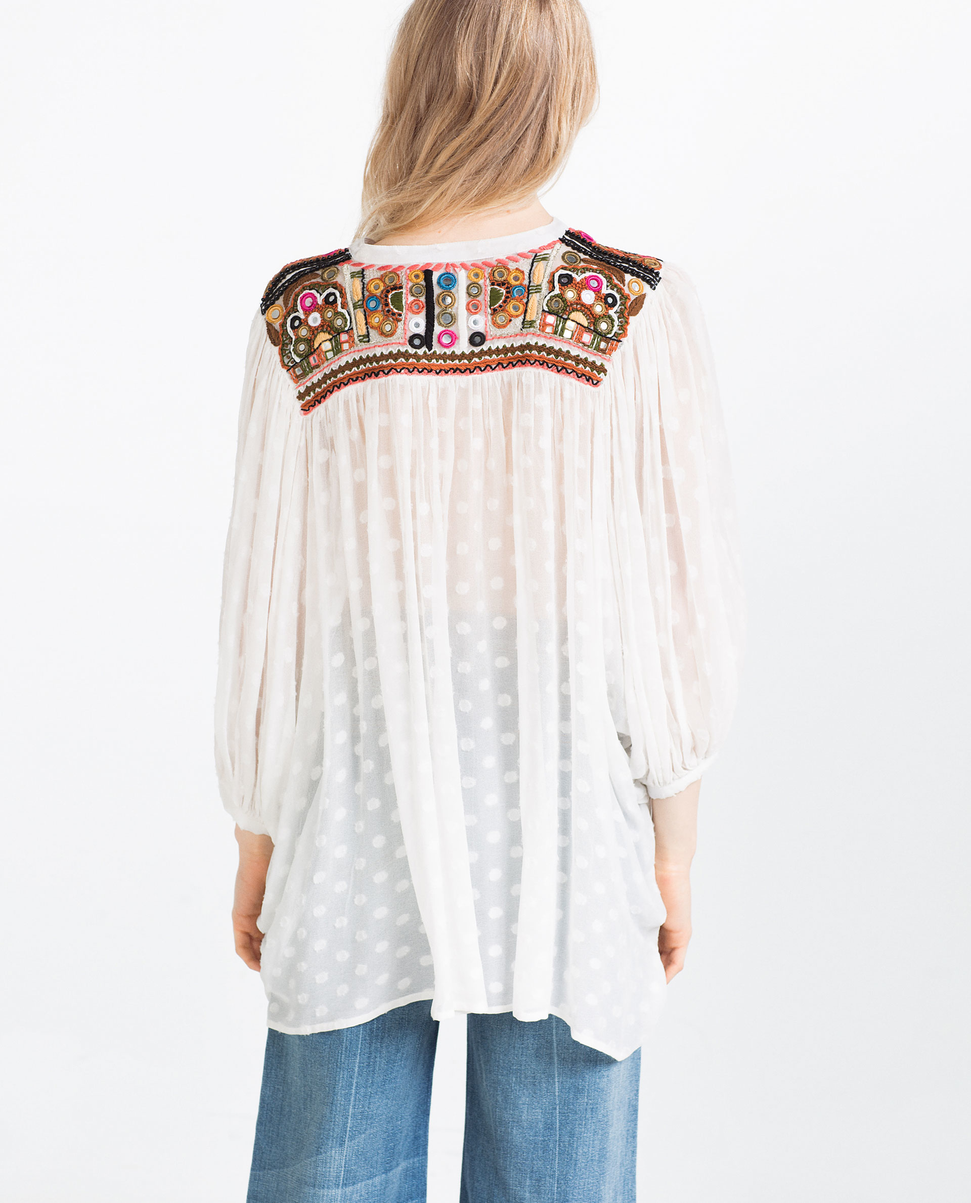 Zara Embroidered Blouse 115