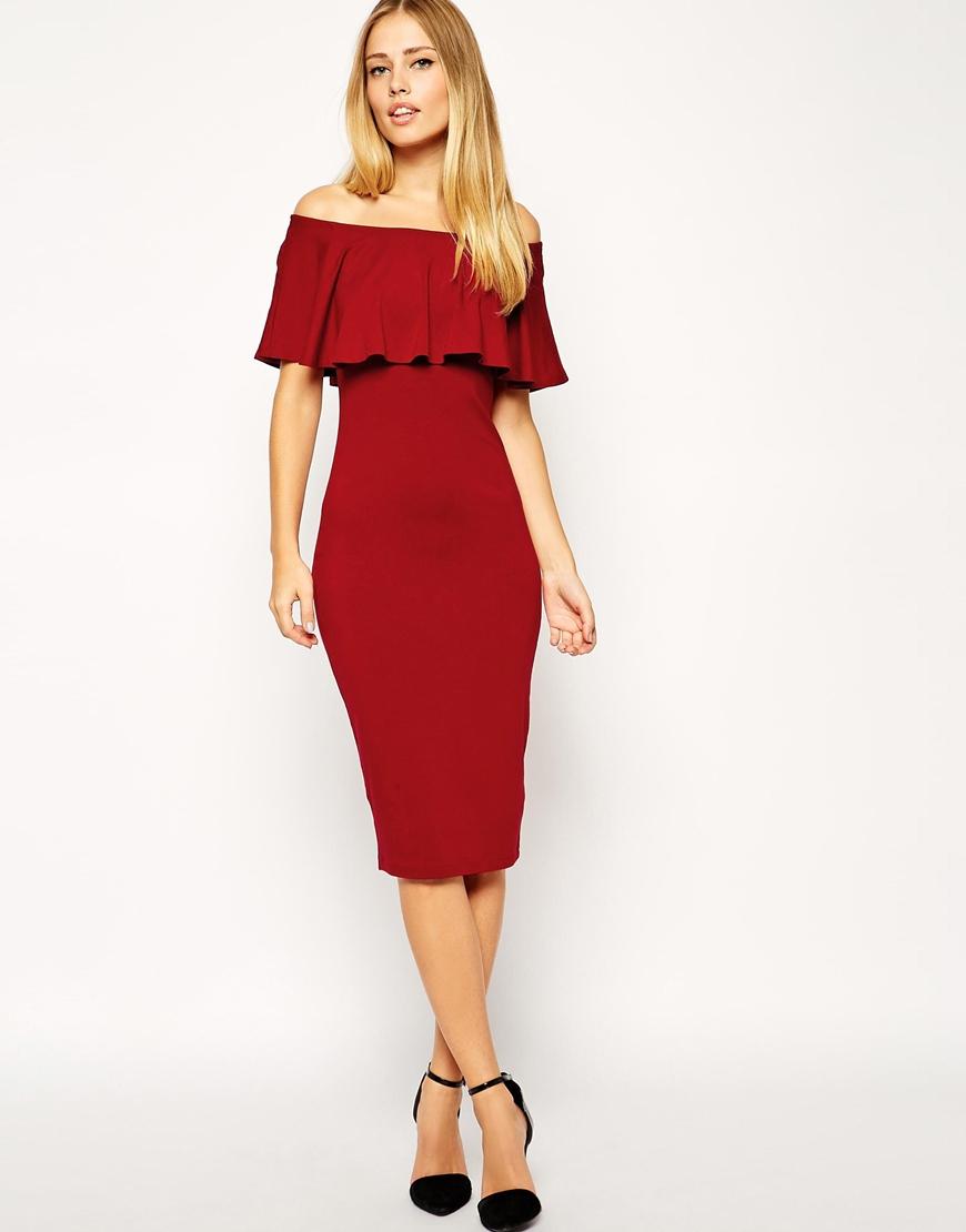 Black ruffle top dress
