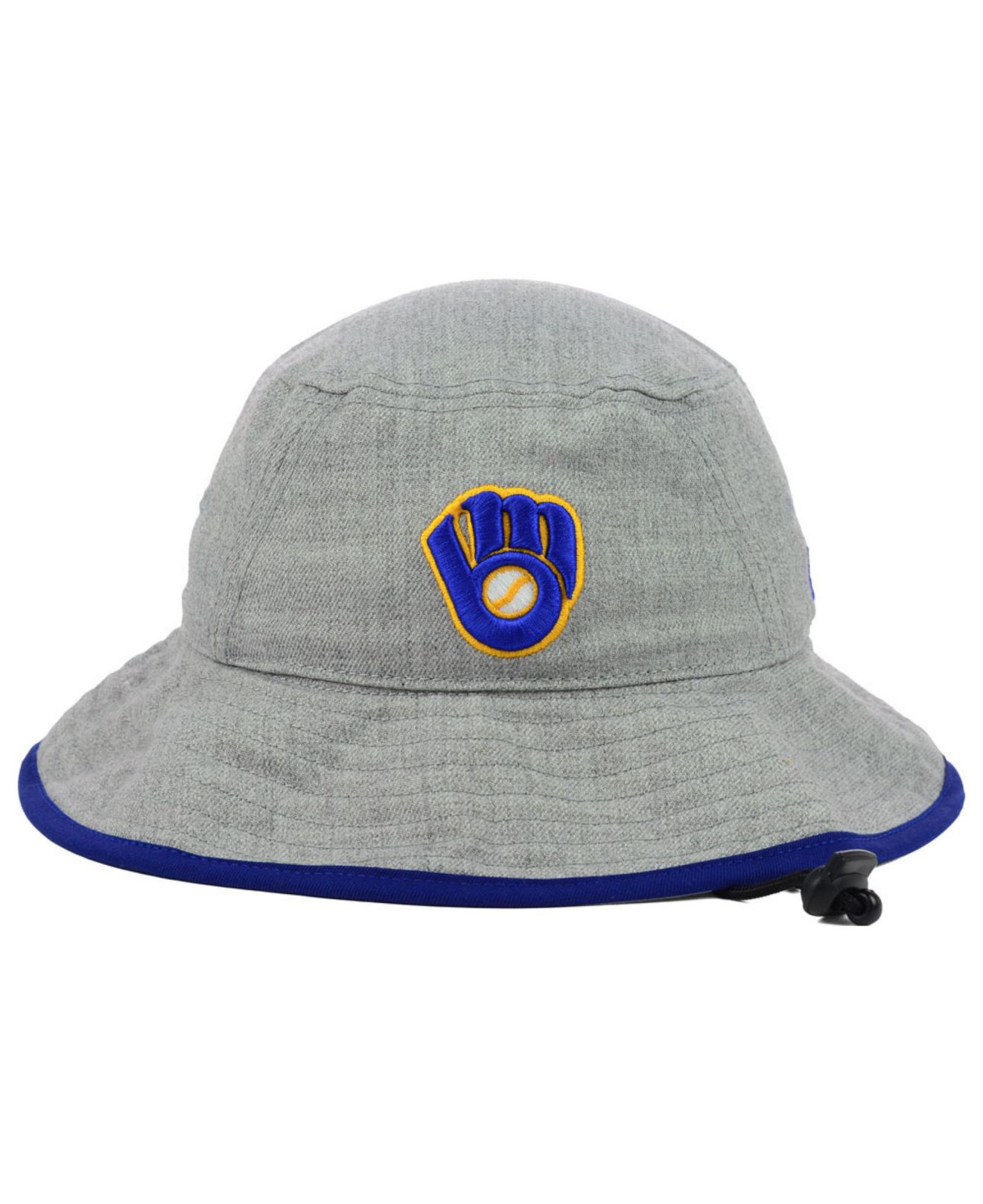 5ae10359a8f Lyst - KTZ Milwaukee Brewers Heather Tipped Bucket Hat in Gray for Men