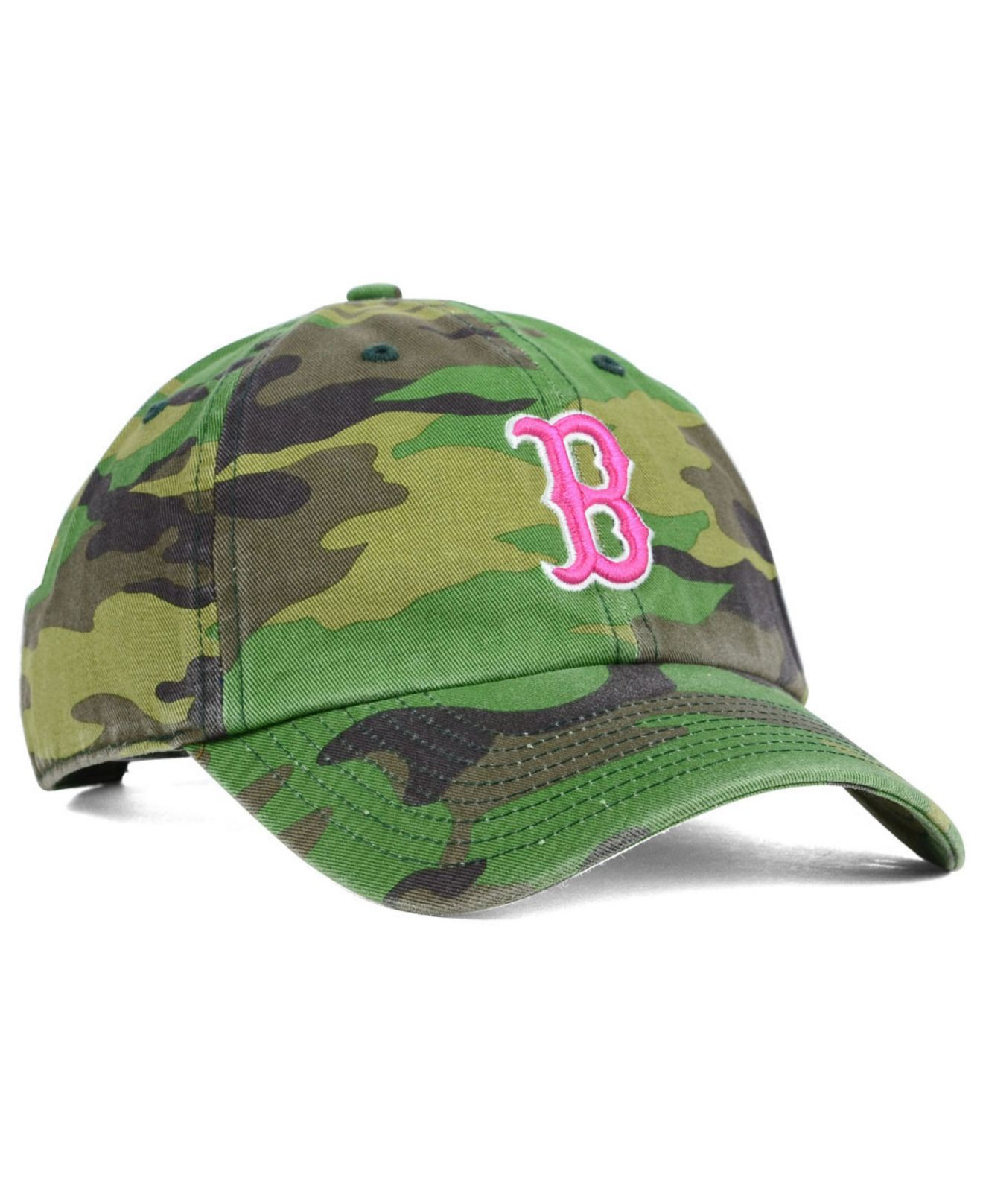 the latest 0e1e7 ea835 ... promo code for lyst 47 brand womens boston red sox clean up cap in  green 53c76