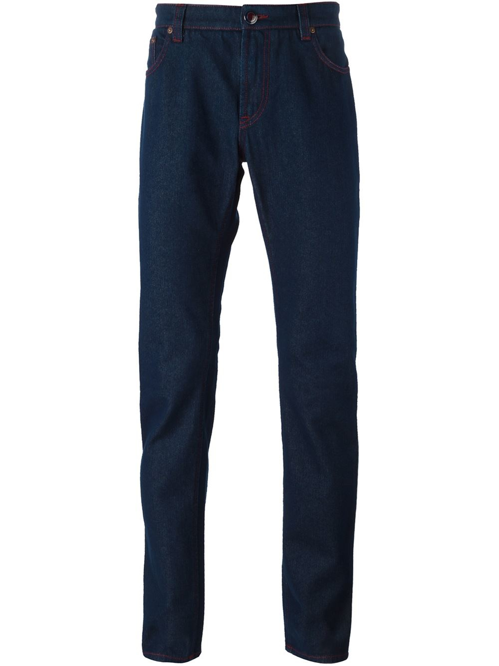 etro slim fit jeans in blue for men lyst. Black Bedroom Furniture Sets. Home Design Ideas