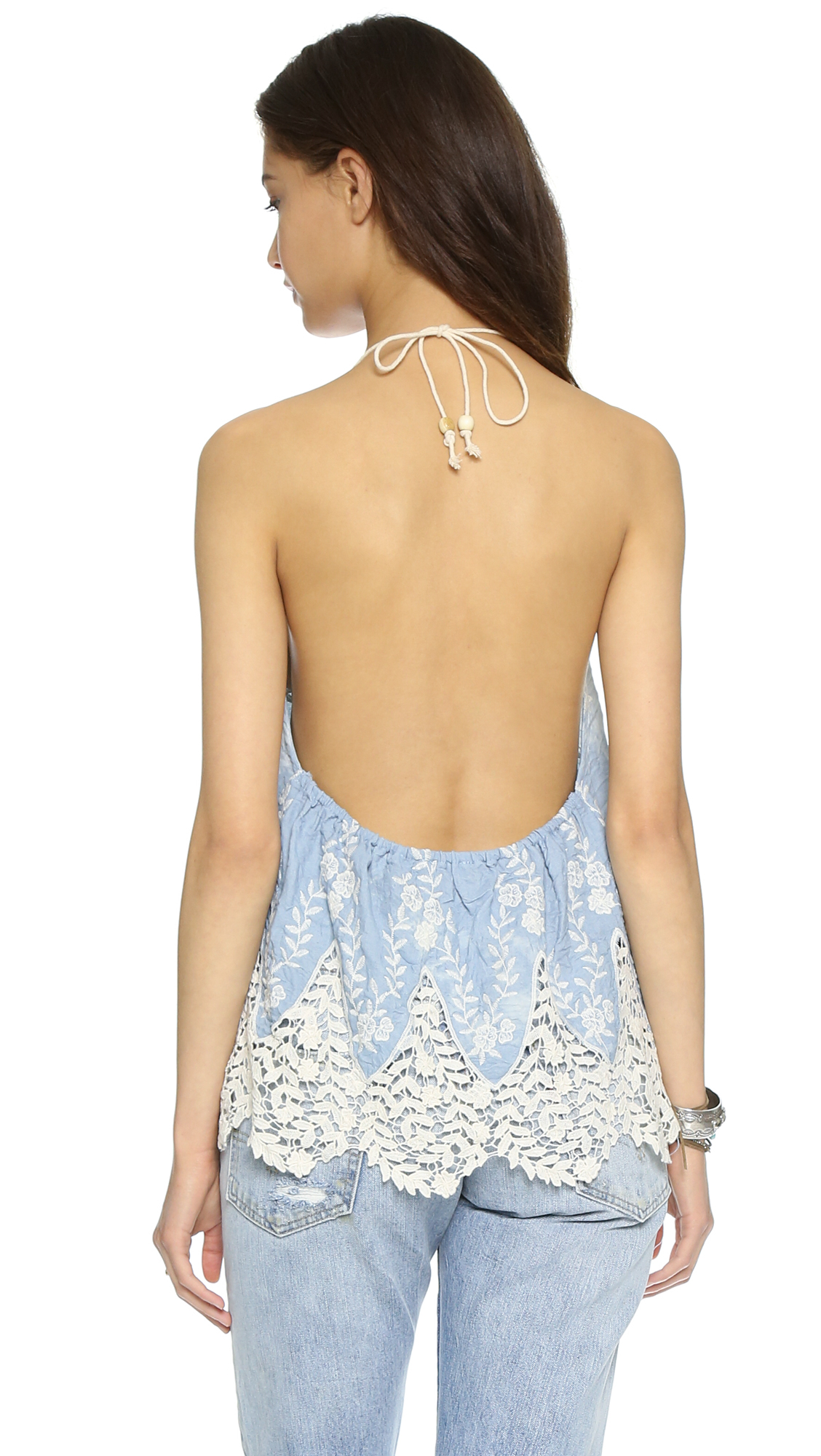 Lyst Line Amp Dot Muse Halter Top Pastel Blue In Blue
