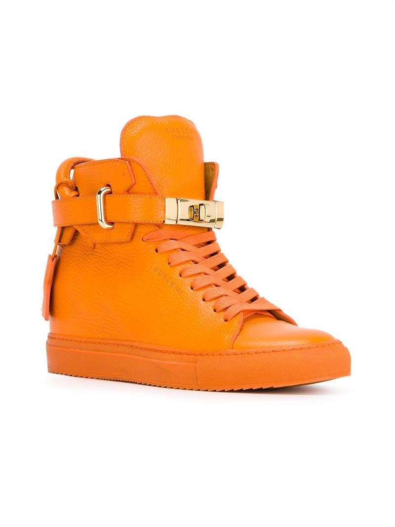 Buscemi Alta Leather High-Top Sneakers