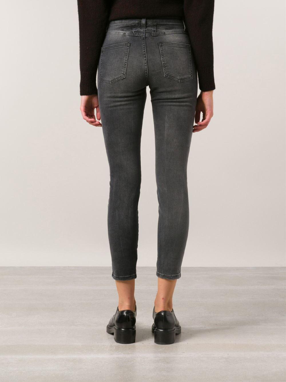 closed skinny pusher jeans in black lyst. Black Bedroom Furniture Sets. Home Design Ideas