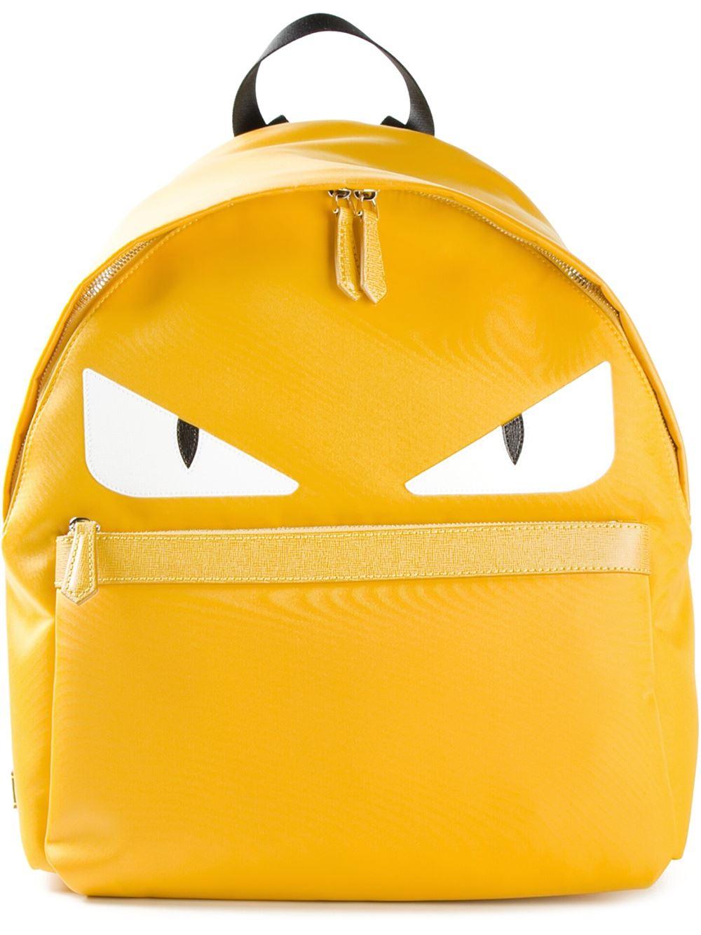 Fendi Bag Bugs Backpack In Yellow For Men Lyst