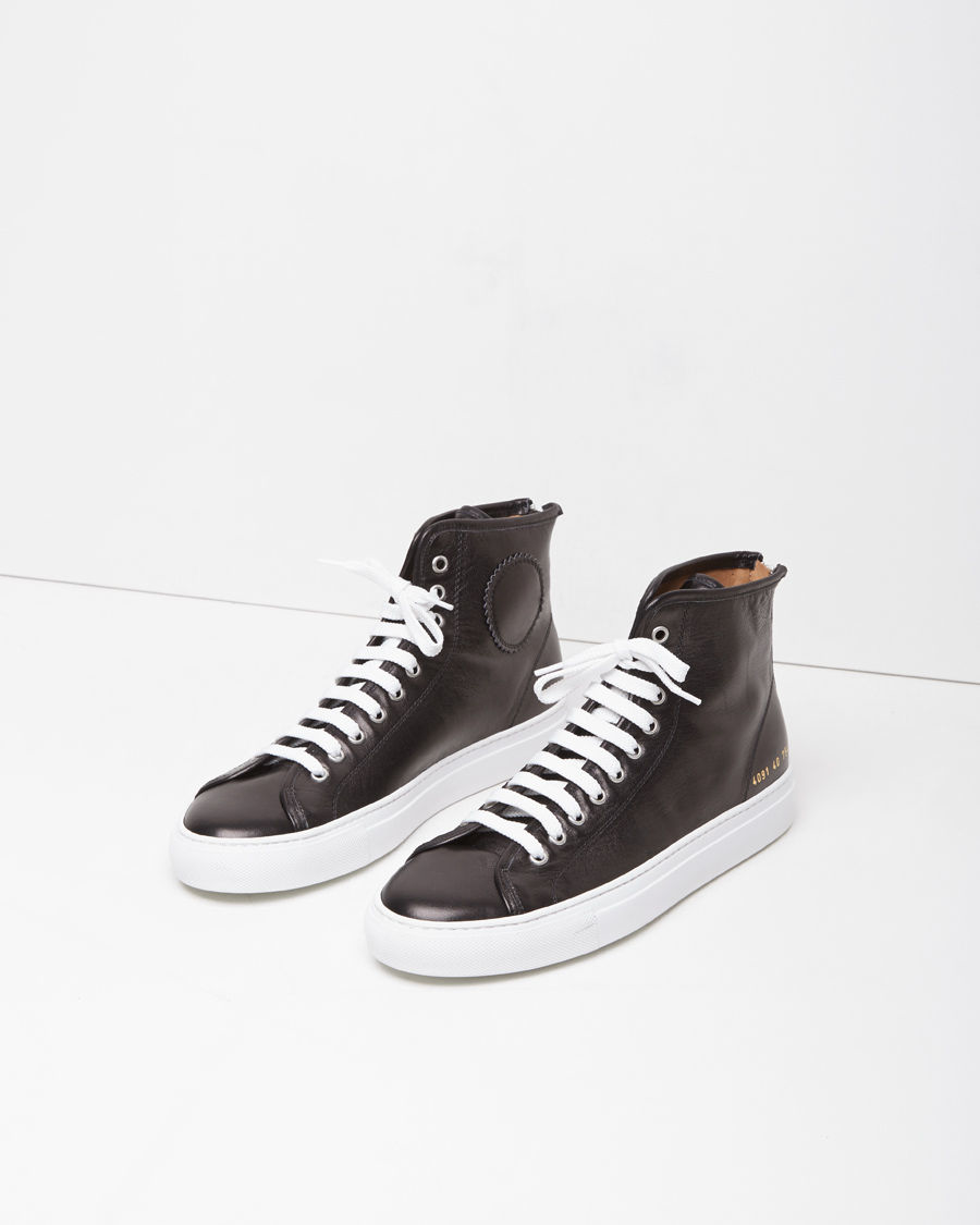 48bbaefd58414 Lyst - Common Projects Tournament High-top Sneaker in Black for Men