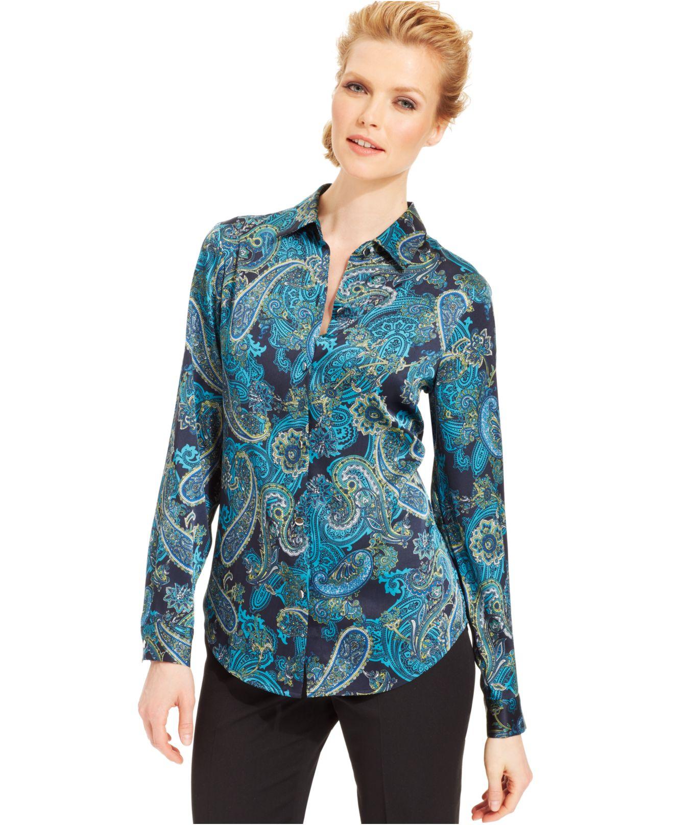 Rock mit Paisley Muster in blau - kleiderkreiselde