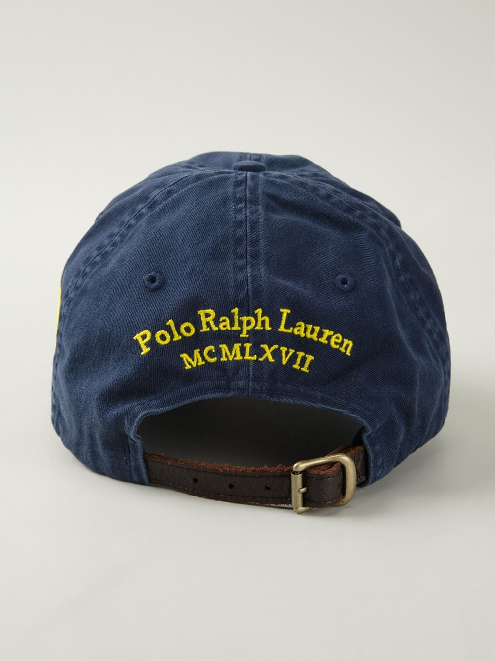 polo ralph lauren logo embroidered cap in blue for men lyst. Black Bedroom Furniture Sets. Home Design Ideas