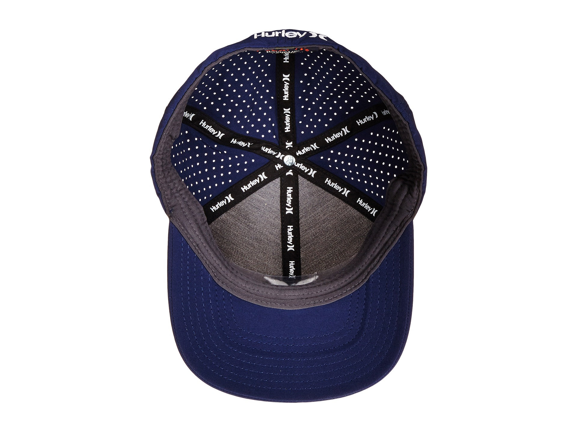 reputable site b1dc3 133c9 ... cheapest lyst hurley phantom vapor 2.0 fitted hat in blue for men 0aa6e  19ed9