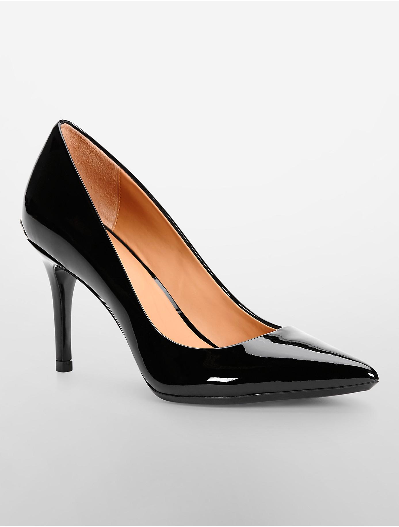 Calvin Klein Black Patent Shoes