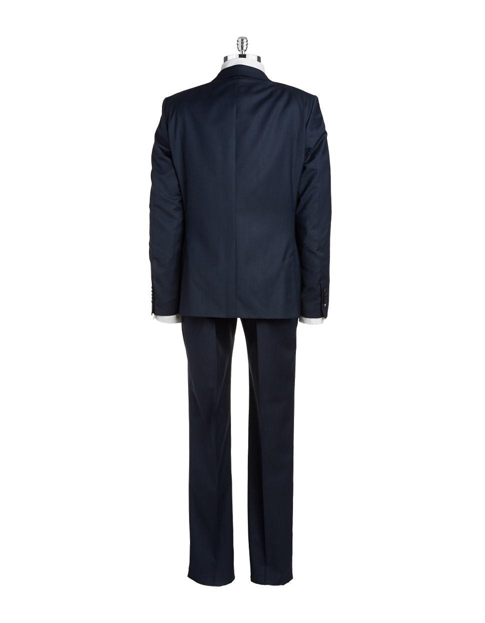 strellson two piece slim fit suit in blue for men lyst. Black Bedroom Furniture Sets. Home Design Ideas