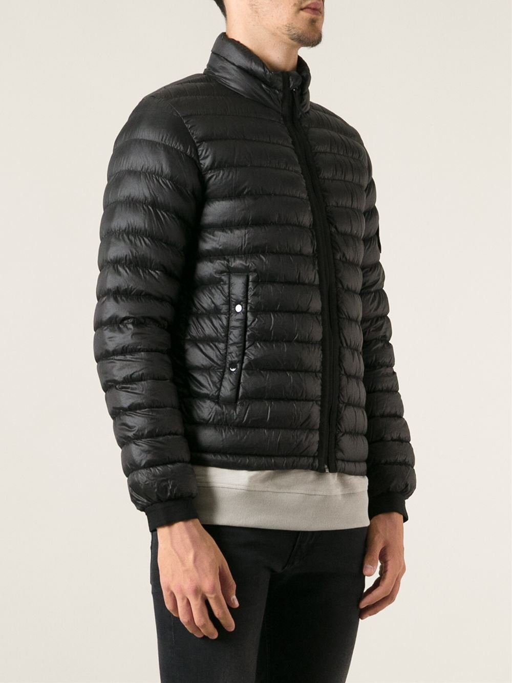 Lyst Stone Island Padded Jacket In Black For Men