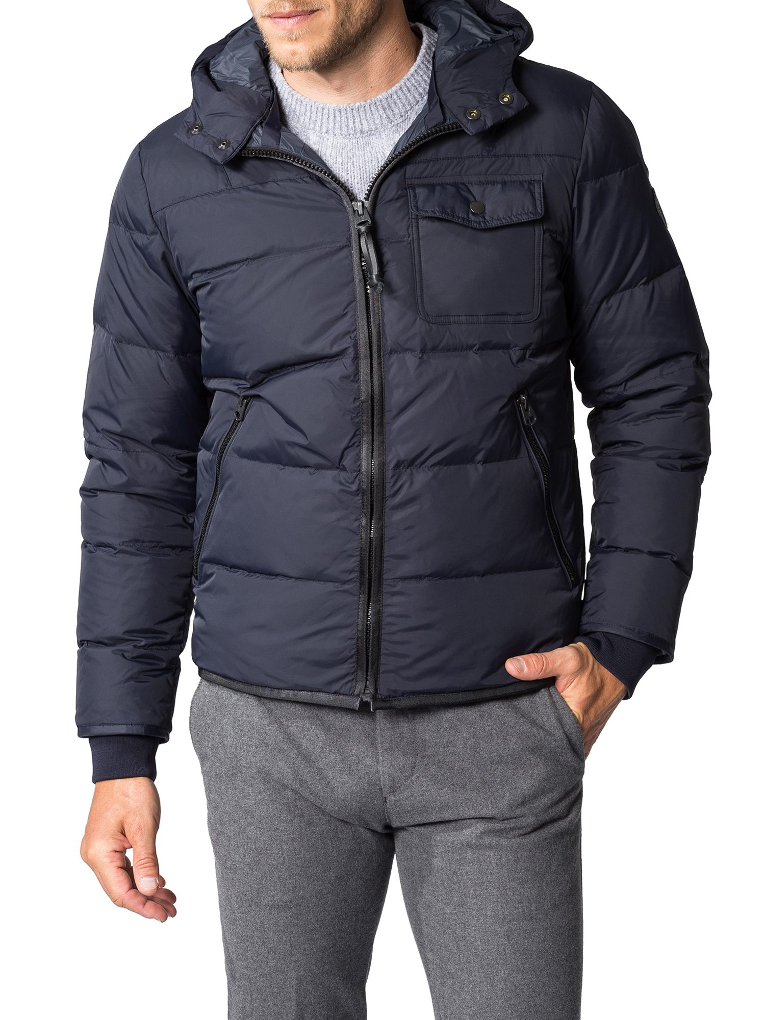 Marc O'polo Synthetic Down Jacket With Adjustable Hem in Midnight (Blue) for Men