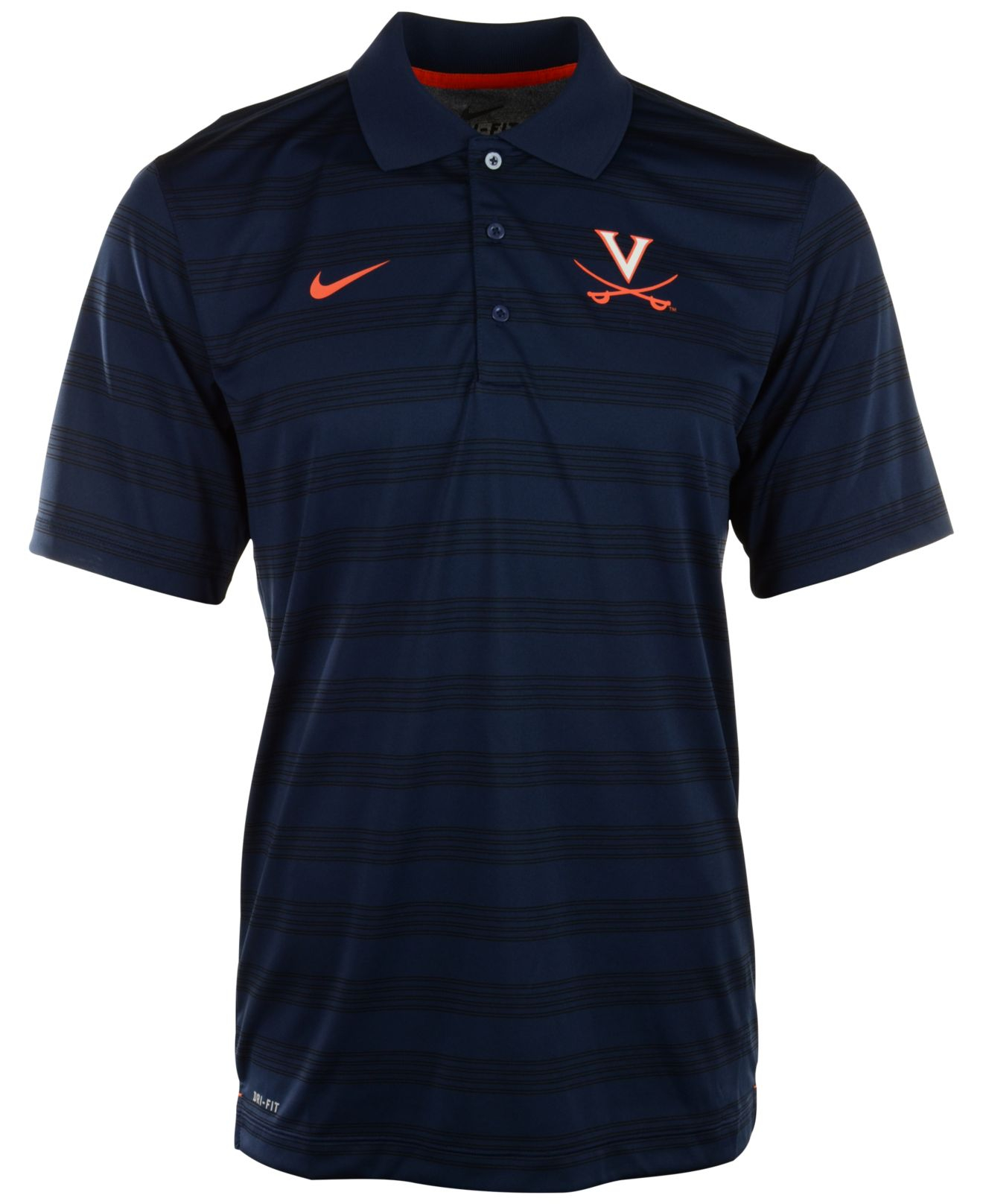 Lyst nike men 39 s virginia cavaliers dri fit preseason for Dri fit dress shirts